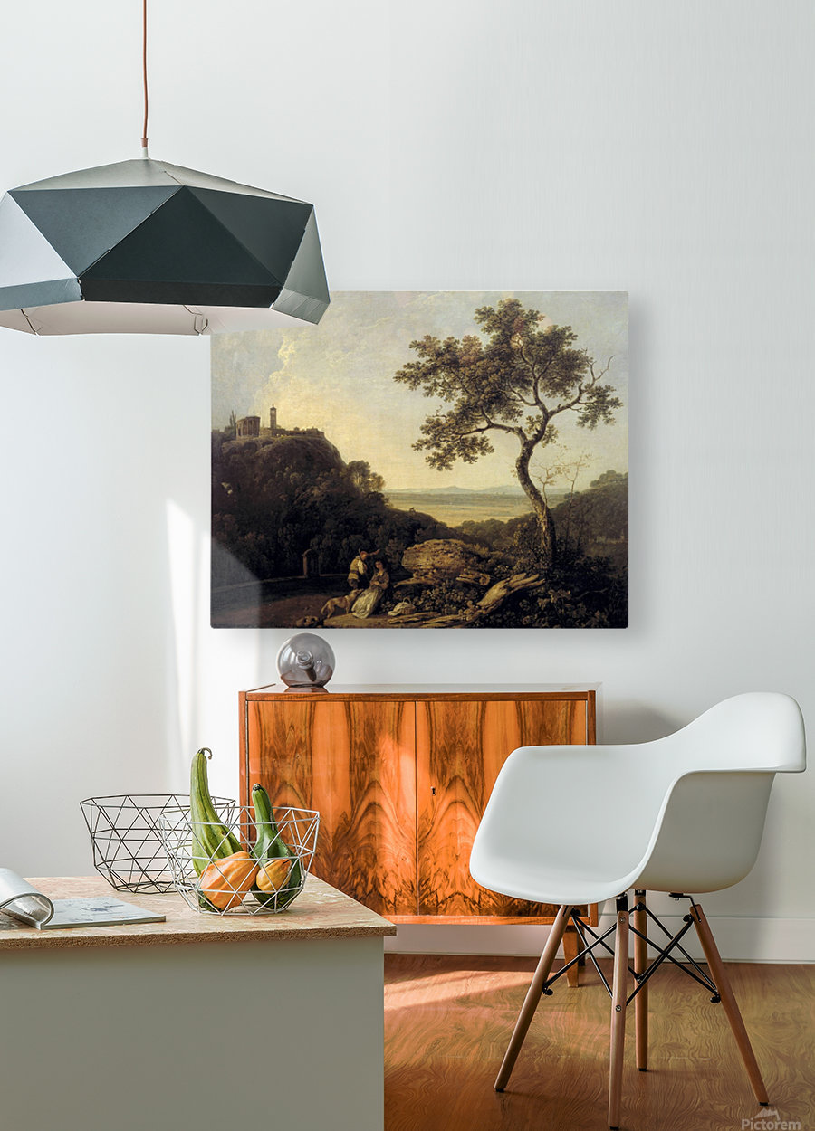 Hadrain's Villa  HD Metal print with Floating Frame on Back