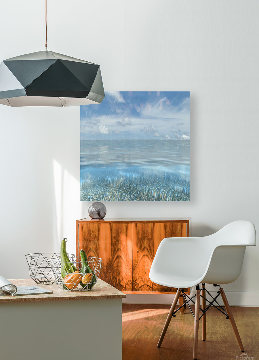 Beach Art  HD Metal print with Floating Frame on Back