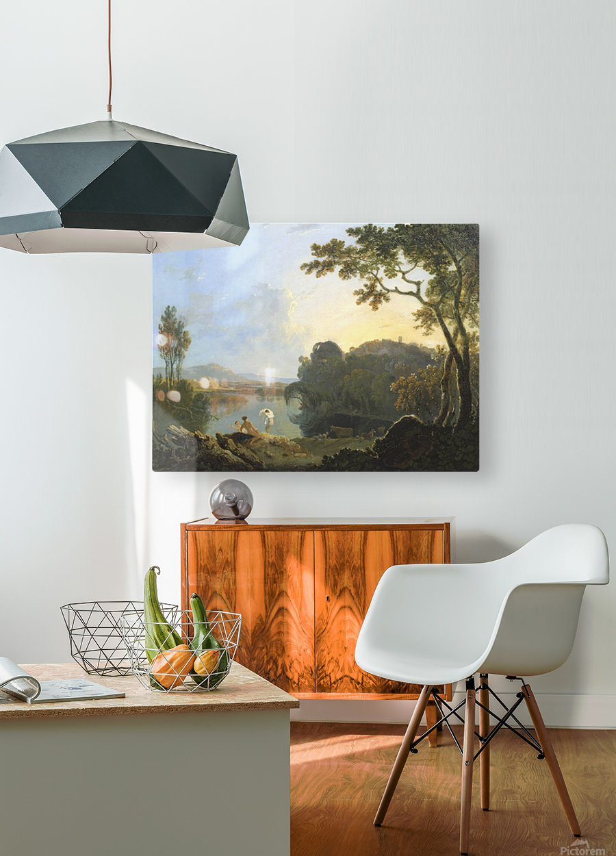 The Thames  HD Metal print with Floating Frame on Back