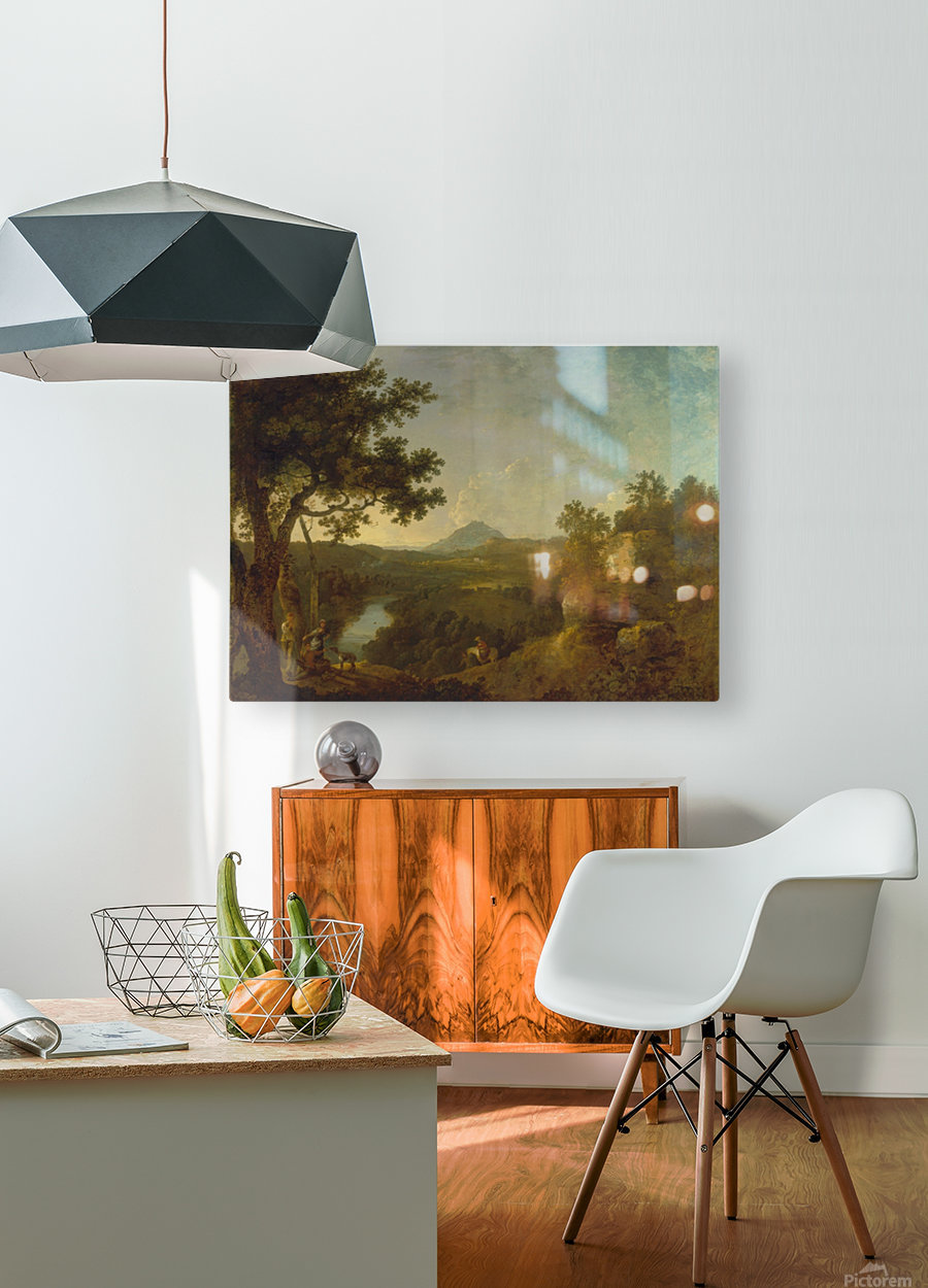 View near Wynnstay  HD Metal print with Floating Frame on Back