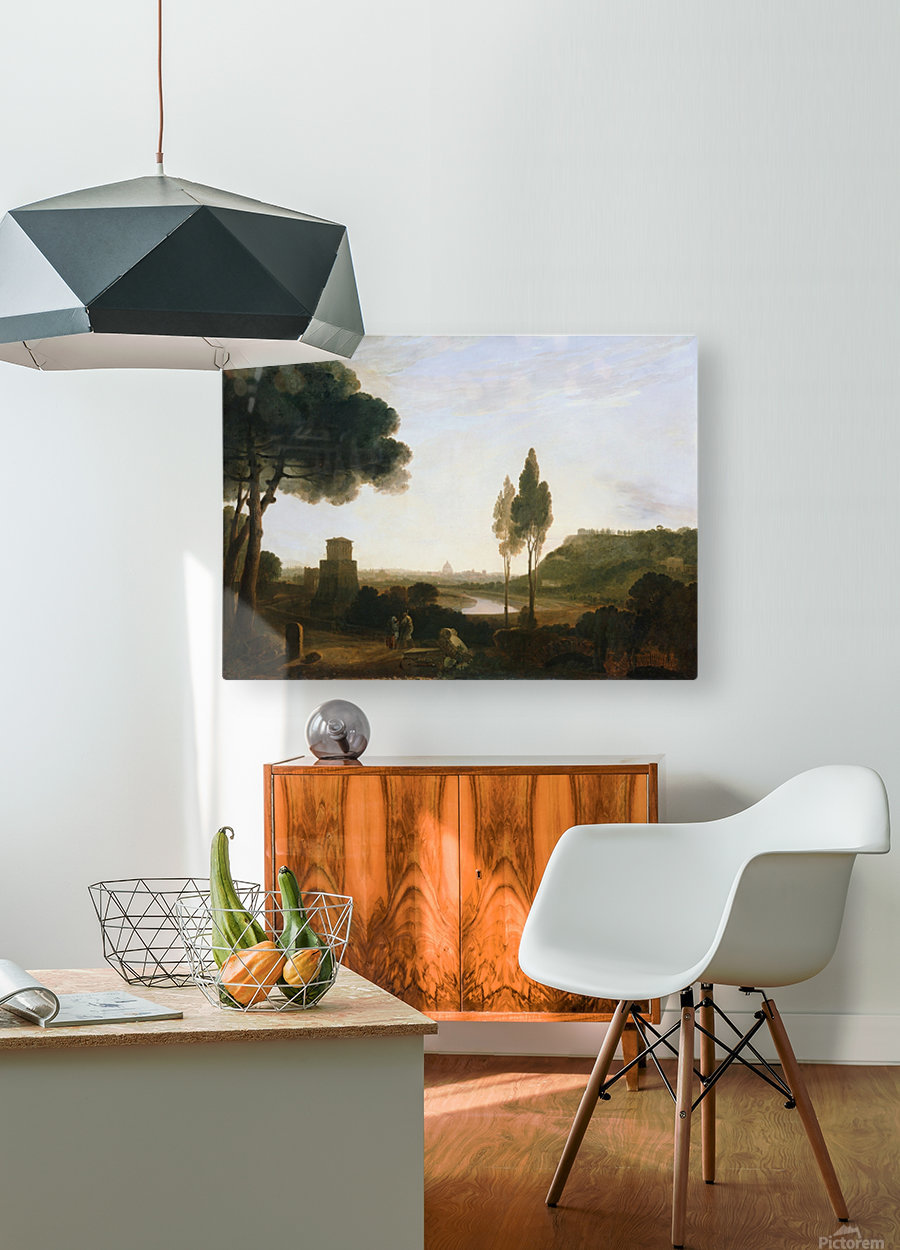 Rome and the Ponte Molle  HD Metal print with Floating Frame on Back
