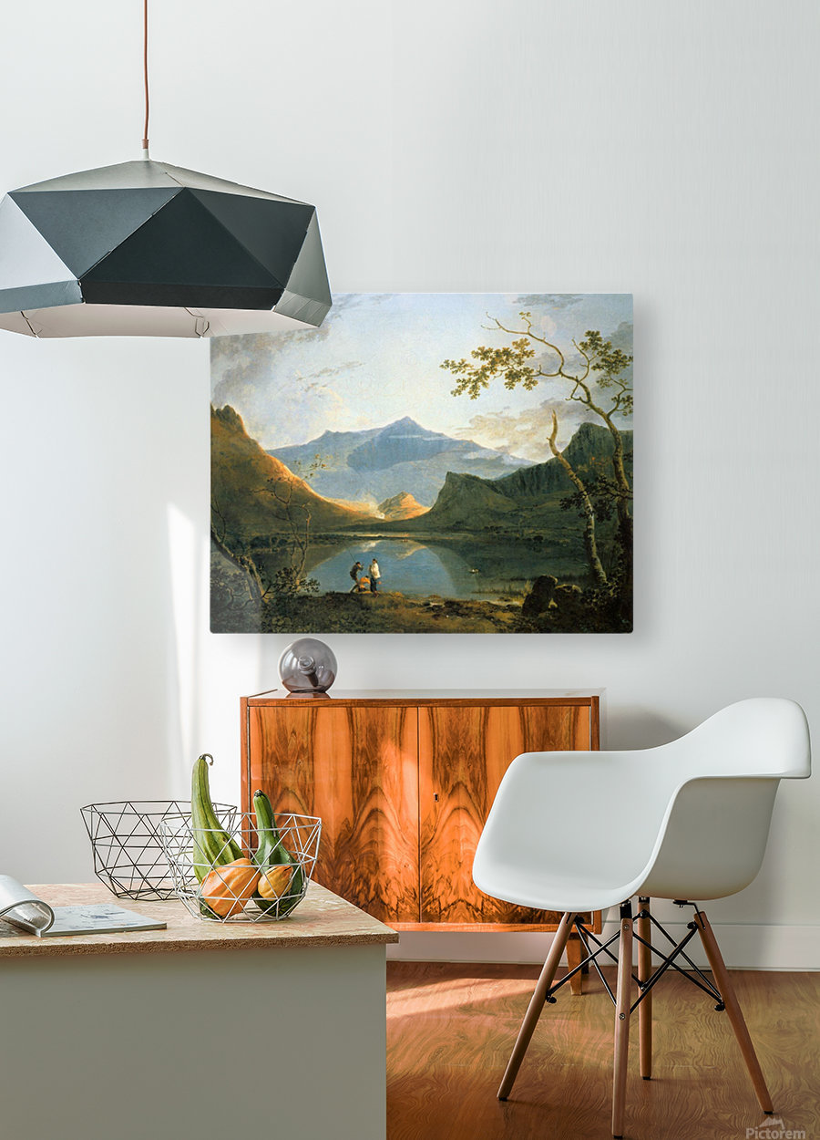 View of Snowdon  HD Metal print with Floating Frame on Back