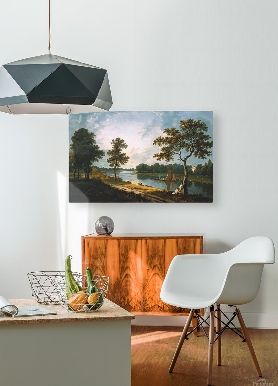 Large river  HD Metal print with Floating Frame on Back