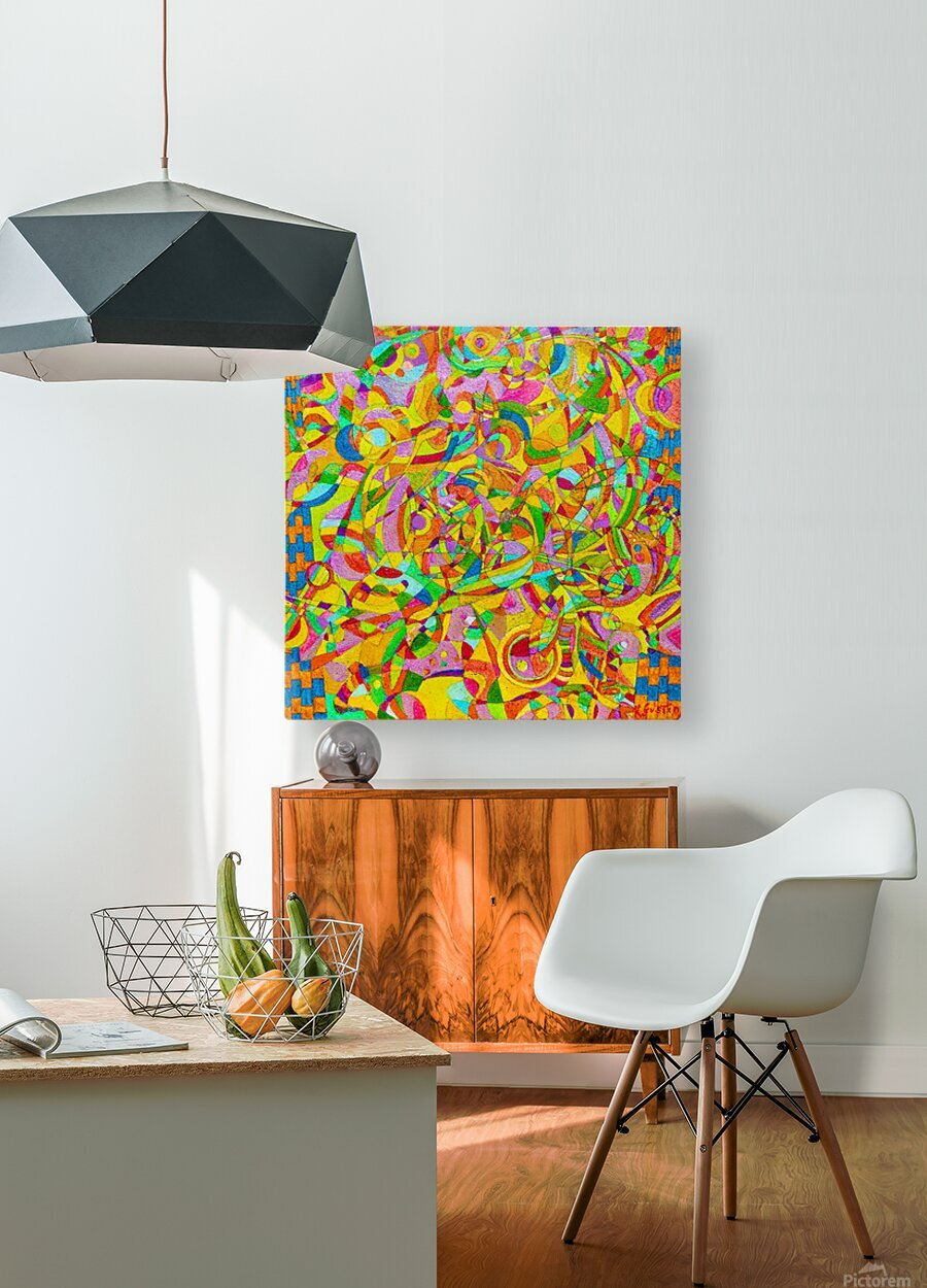 ABSTRACT SHAPES 08  HD Metal print with Floating Frame on Back