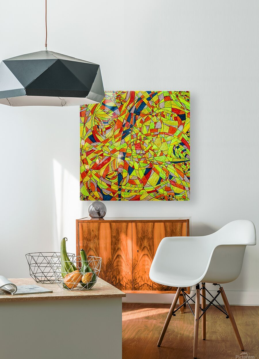 ABSTRACT SHAPES 10  HD Metal print with Floating Frame on Back