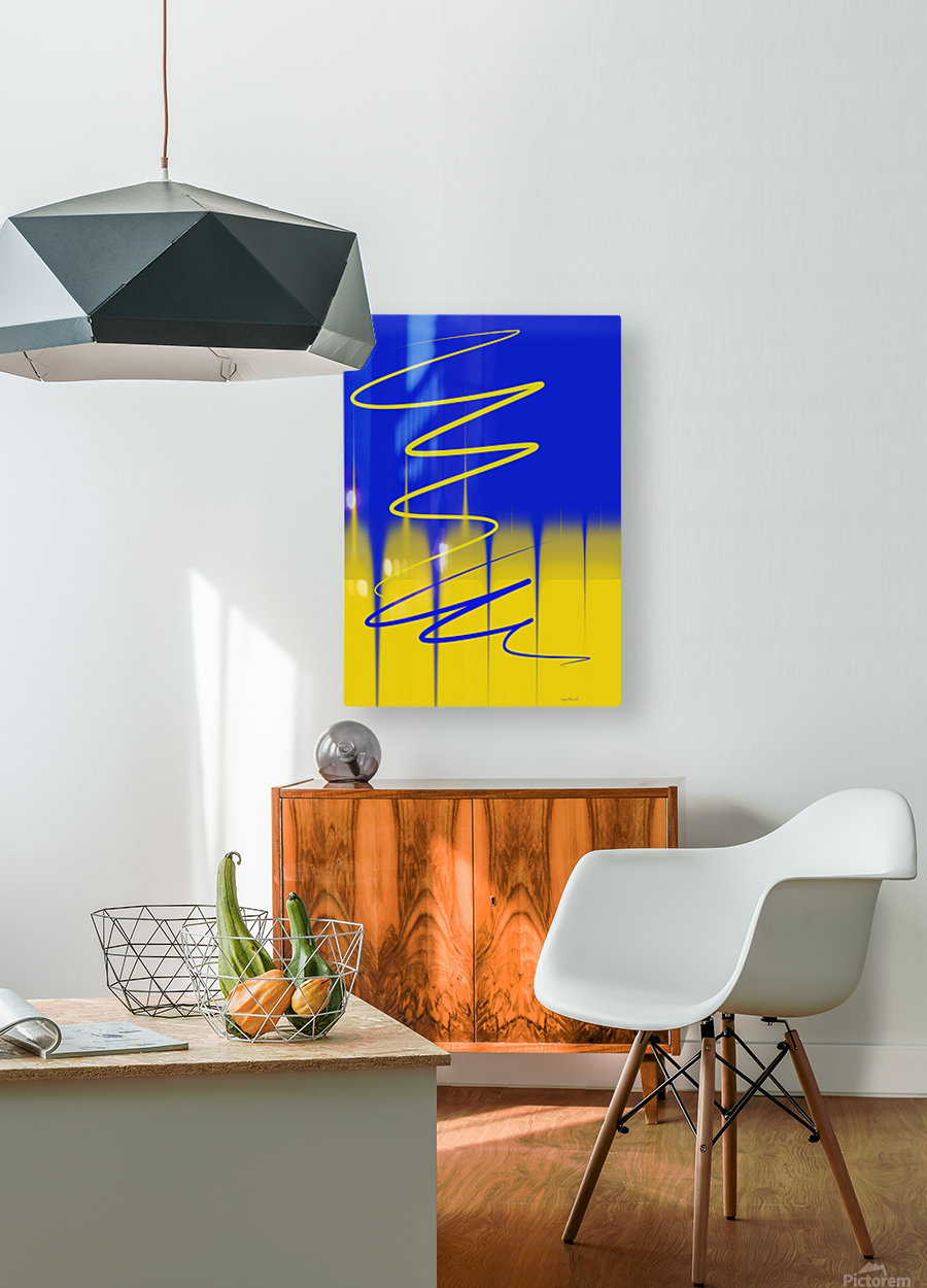 interaction of colors  HD Metal print with Floating Frame on Back