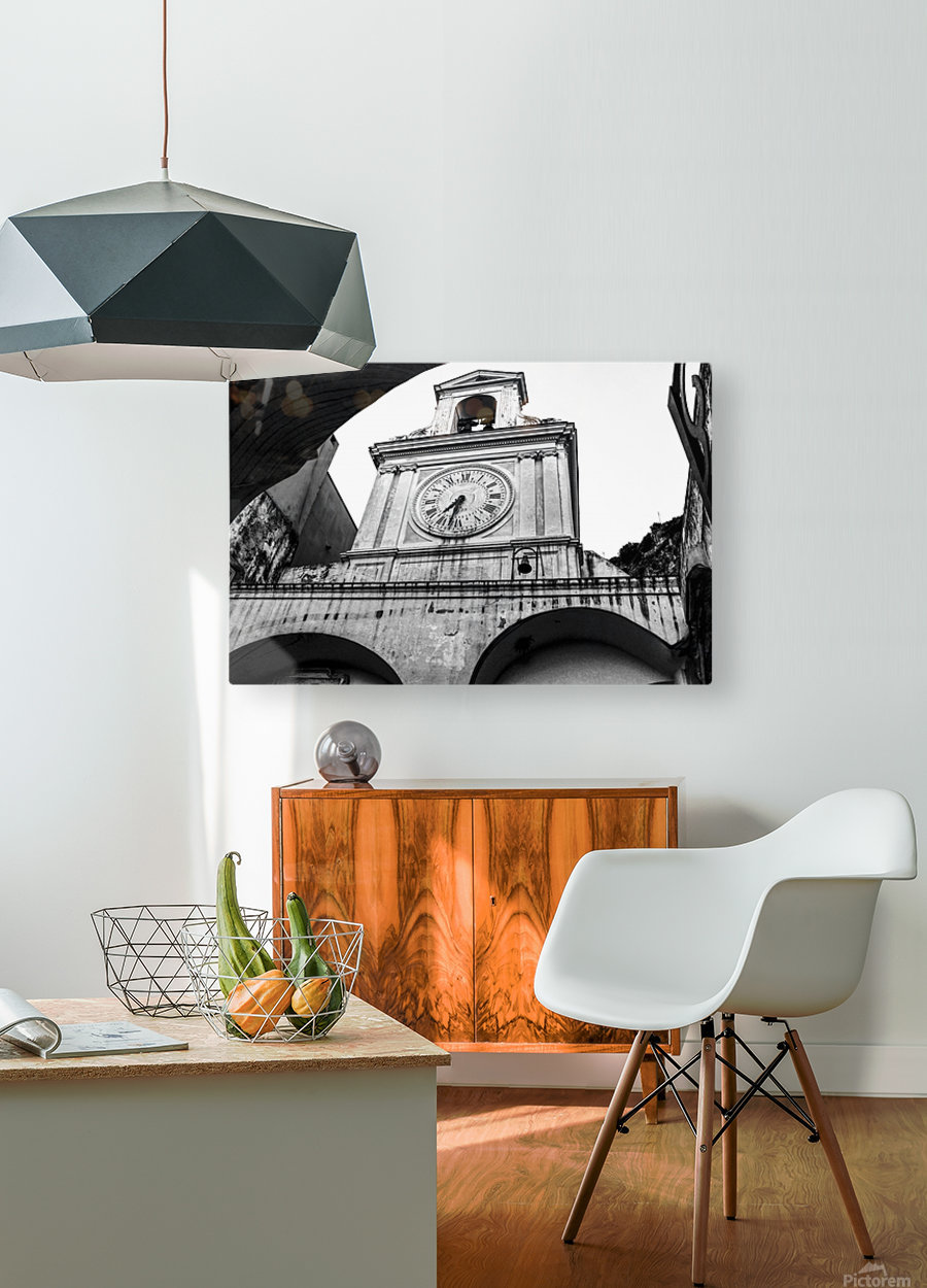 The Church - Ancient Tower Clock  HD Metal print with Floating Frame on Back