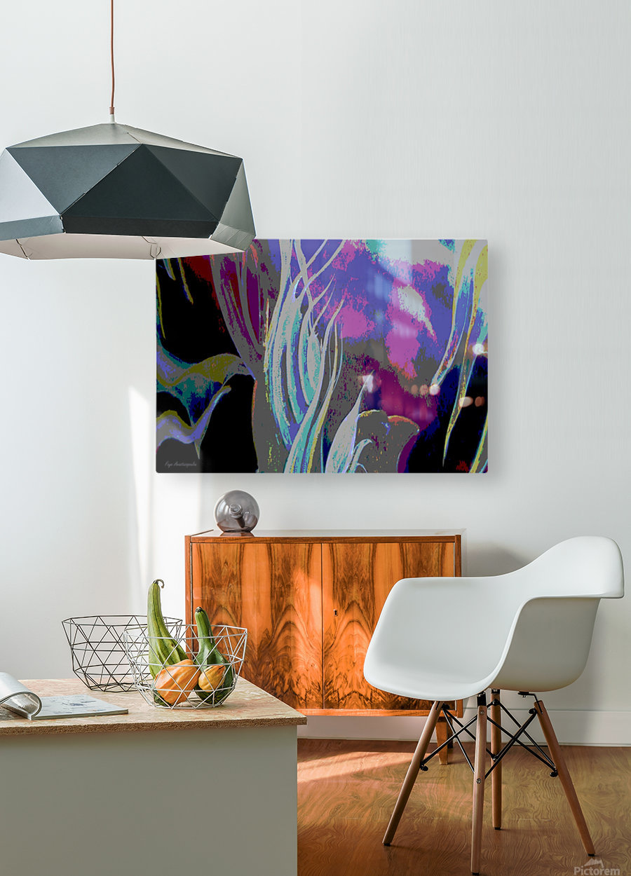 Colorful Melody Waves  HD Metal print with Floating Frame on Back