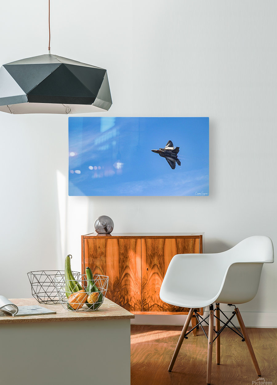 F22 raptor   HD Metal print with Floating Frame on Back