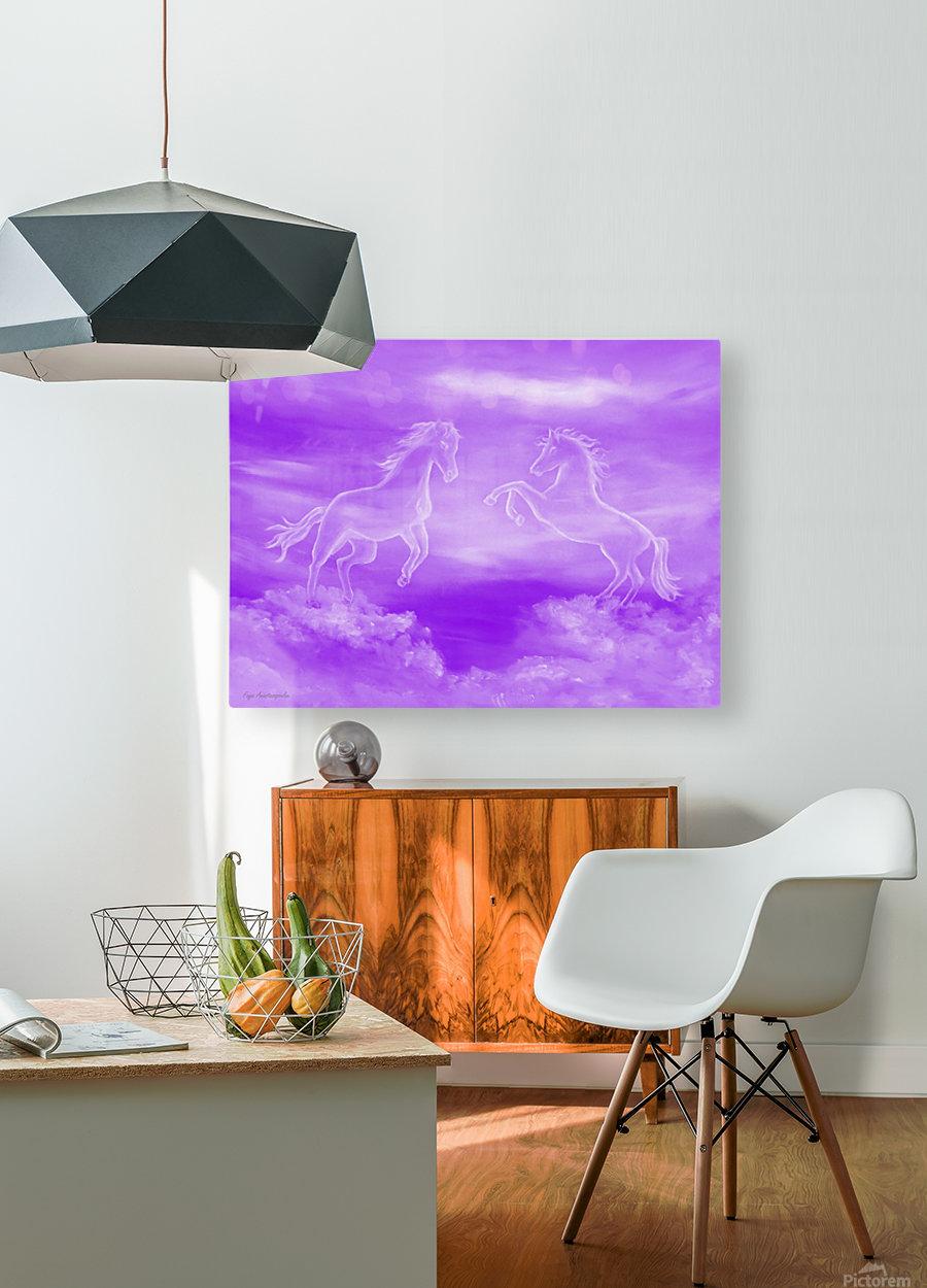 Spirit Horses  HD Metal print with Floating Frame on Back