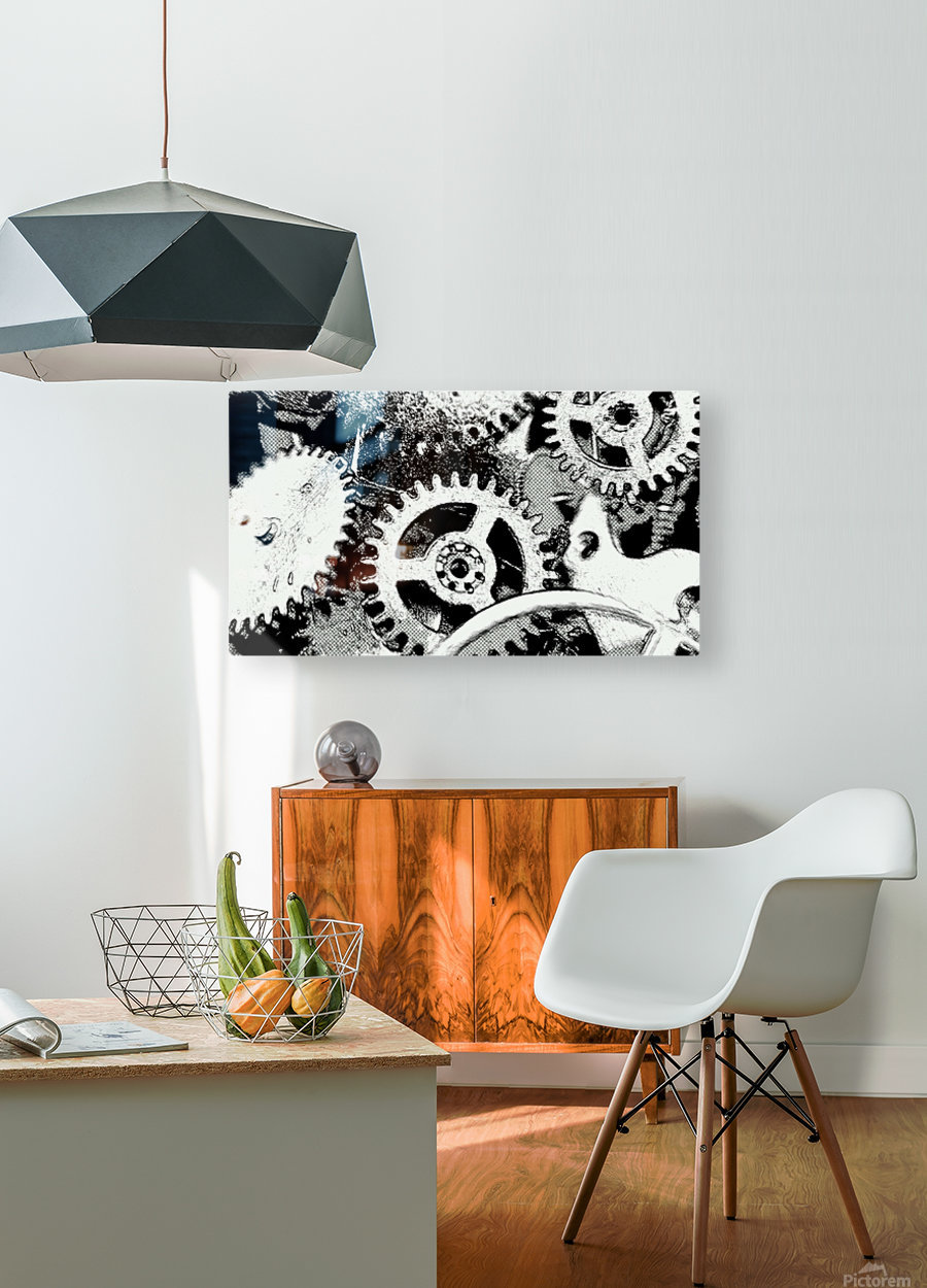 Gear Space  HD Metal print with Floating Frame on Back