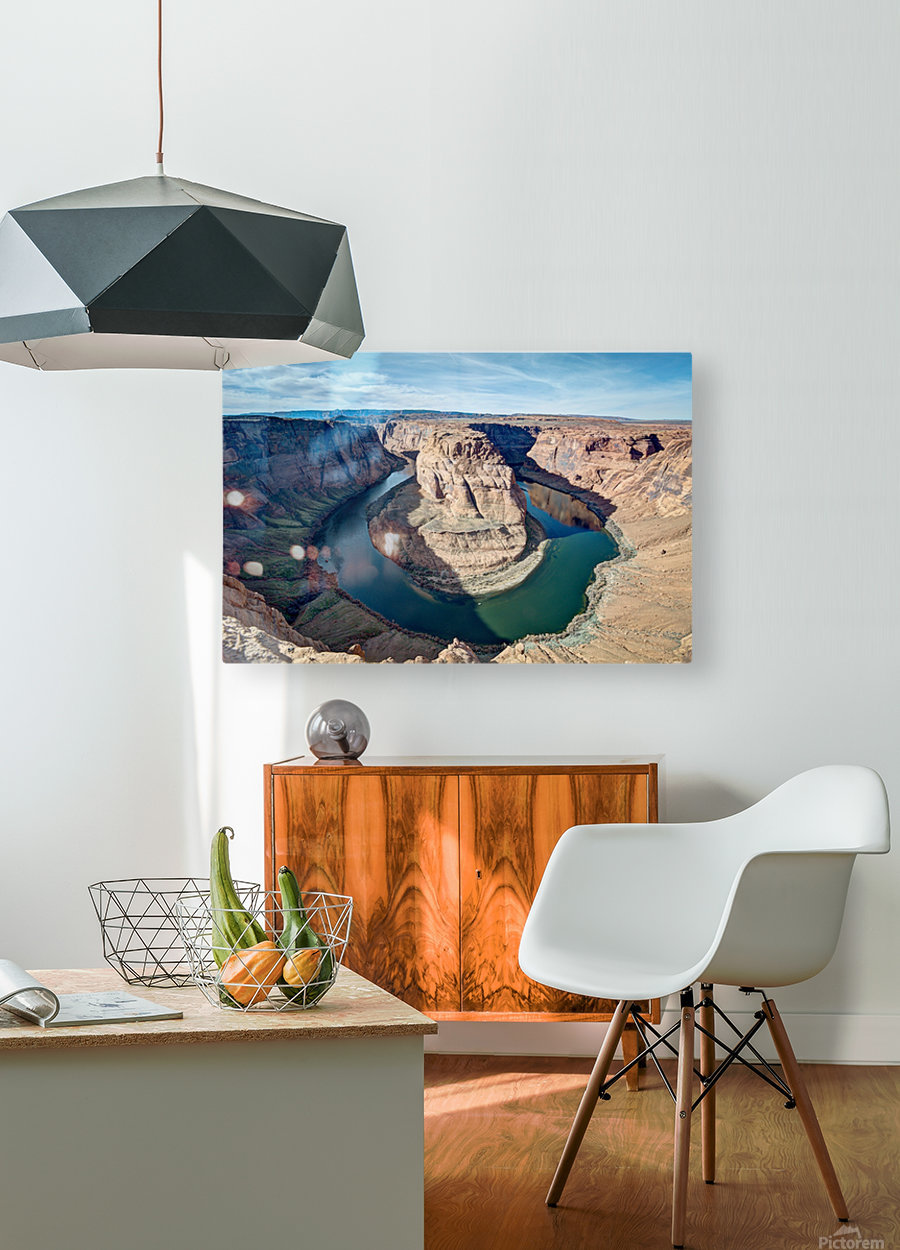 Horse Shoe Arizona  HD Metal print with Floating Frame on Back