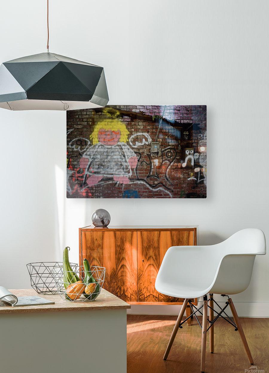 Angel in Krylon  HD Metal print with Floating Frame on Back