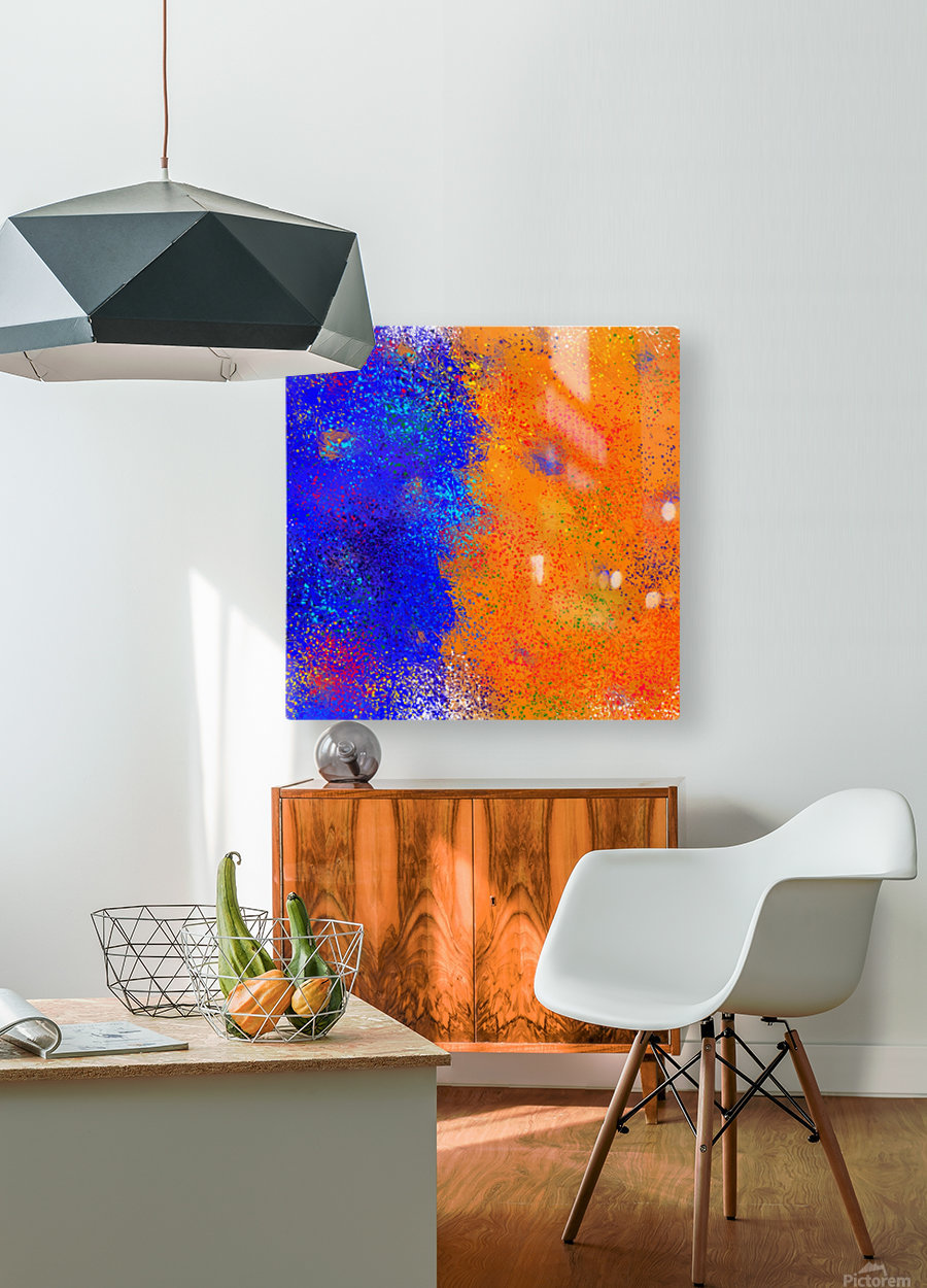 Seisnahorra - orange and blue balanced freedom  HD Metal print with Floating Frame on Back