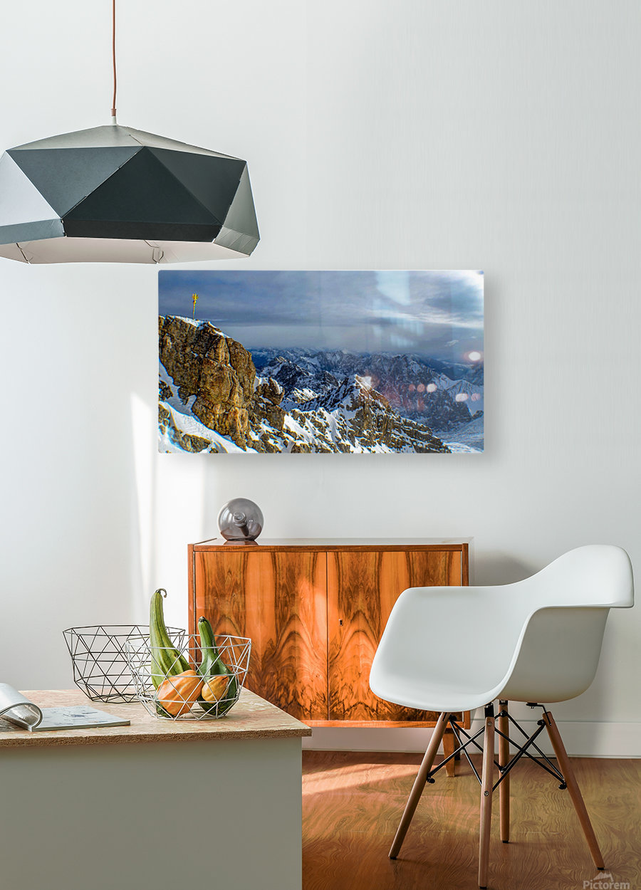 Zugspitze  HD Metal print with Floating Frame on Back