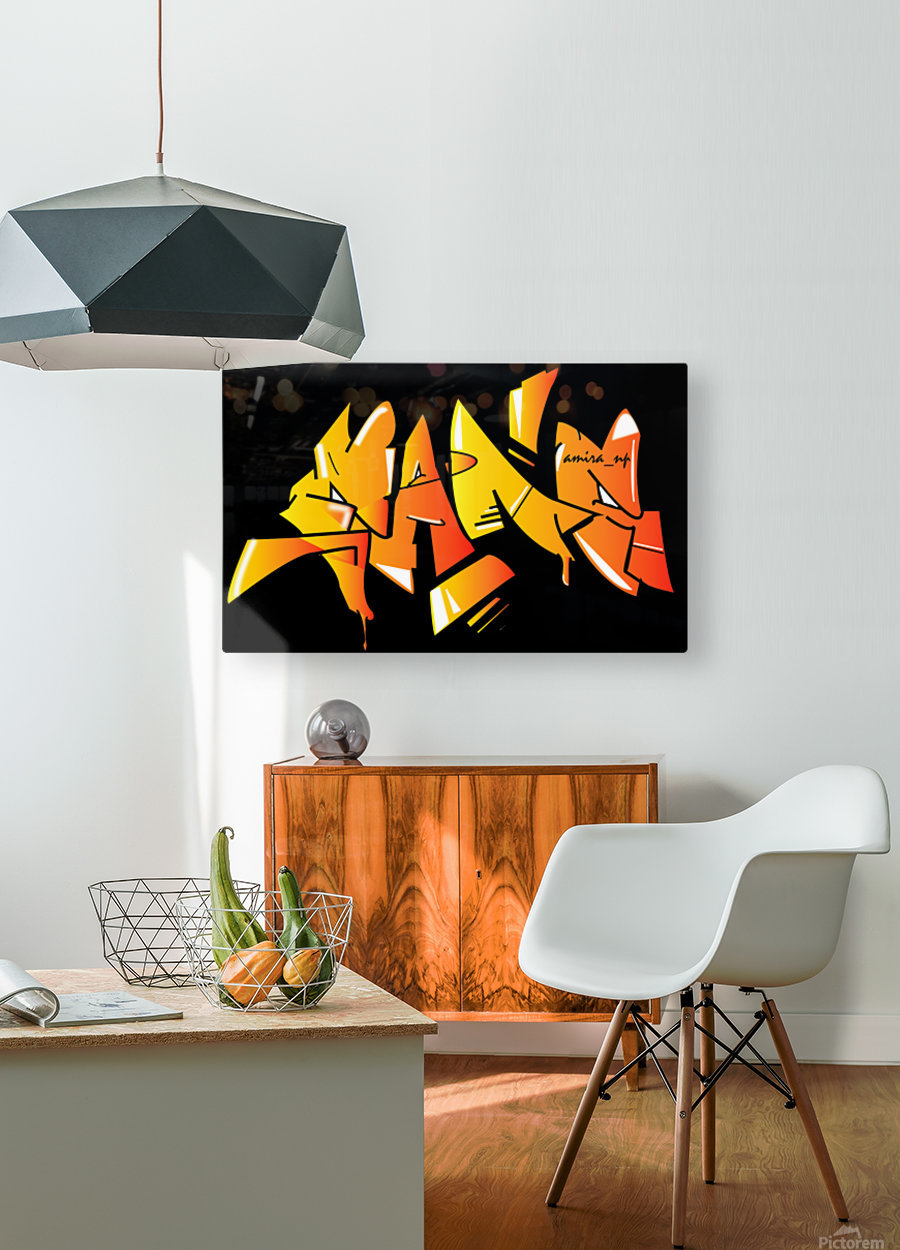 gang  HD Metal print with Floating Frame on Back