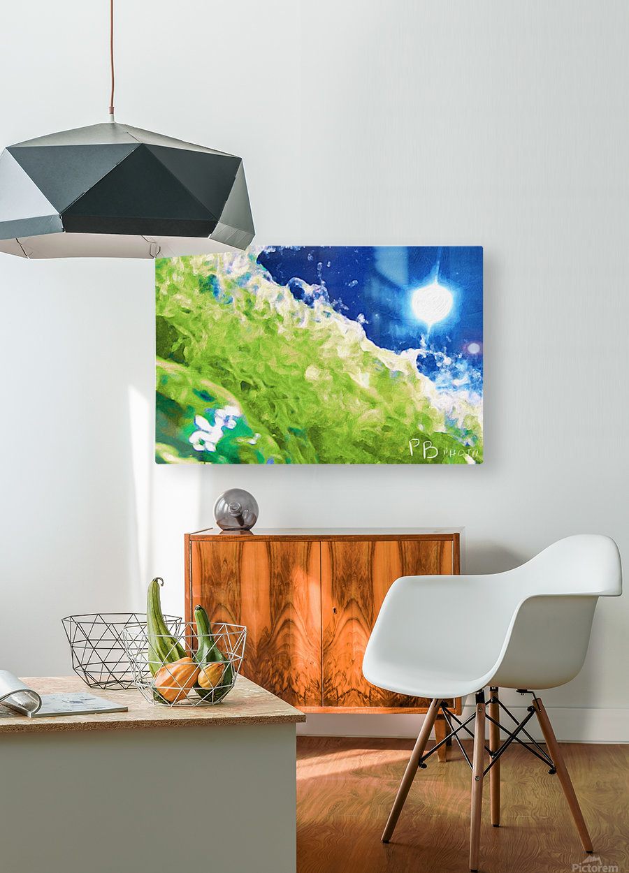 Sun & Surf  HD Metal print with Floating Frame on Back