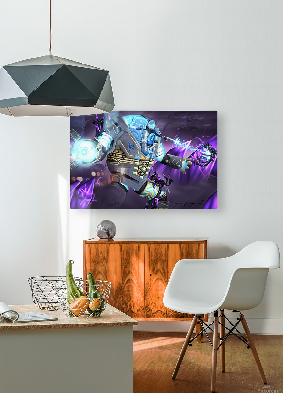 -Power Suit Fall-  HD Metal print with Floating Frame on Back