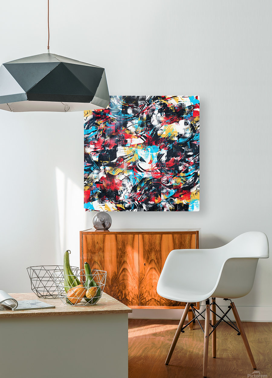 Abstract Flow II  HD Metal print with Floating Frame on Back