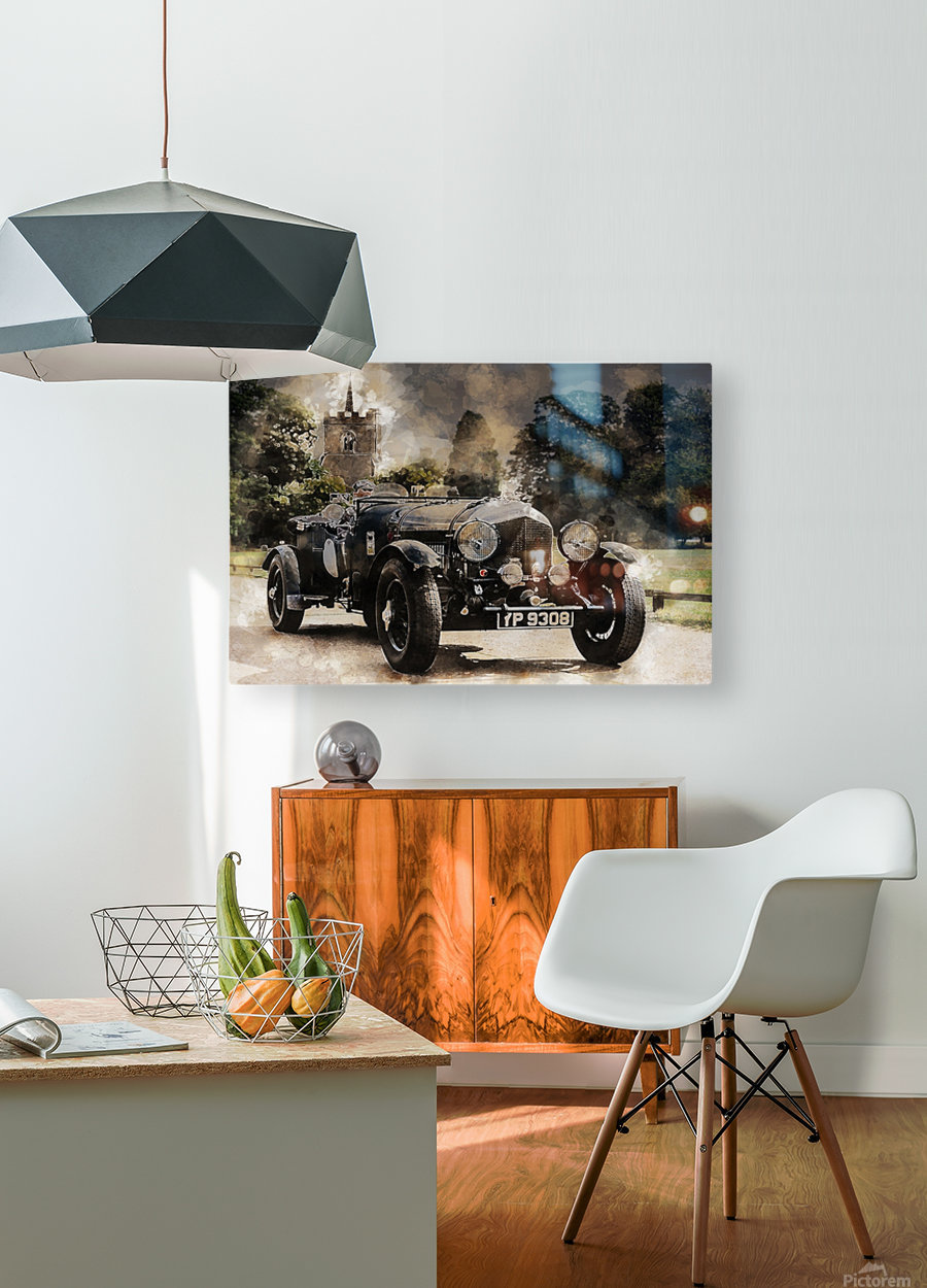 car automobile old timer automotive  HD Metal print with Floating Frame on Back