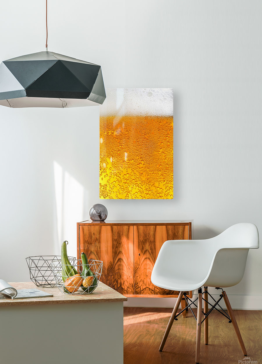 Beer Bubbles pattern  HD Metal print with Floating Frame on Back