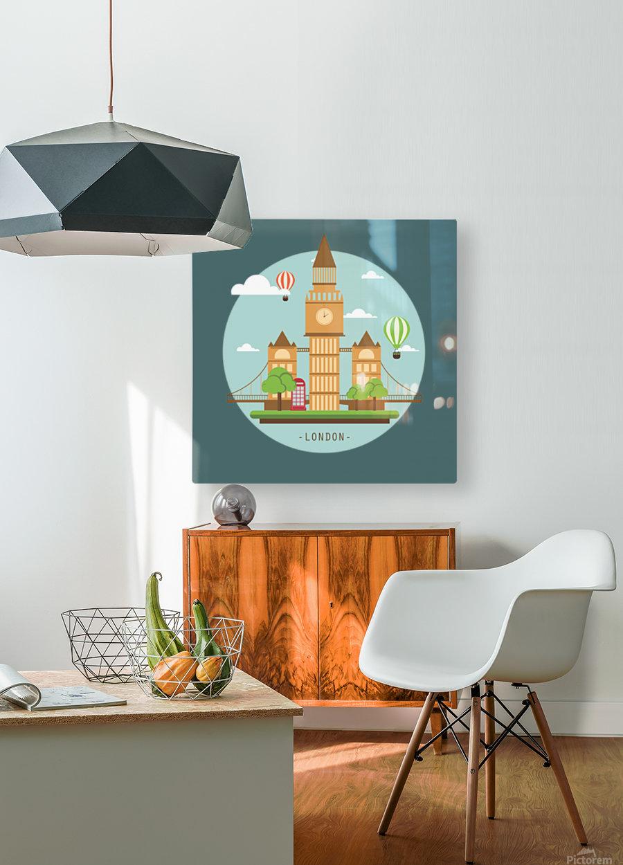 london watch landmark england  HD Metal print with Floating Frame on Back
