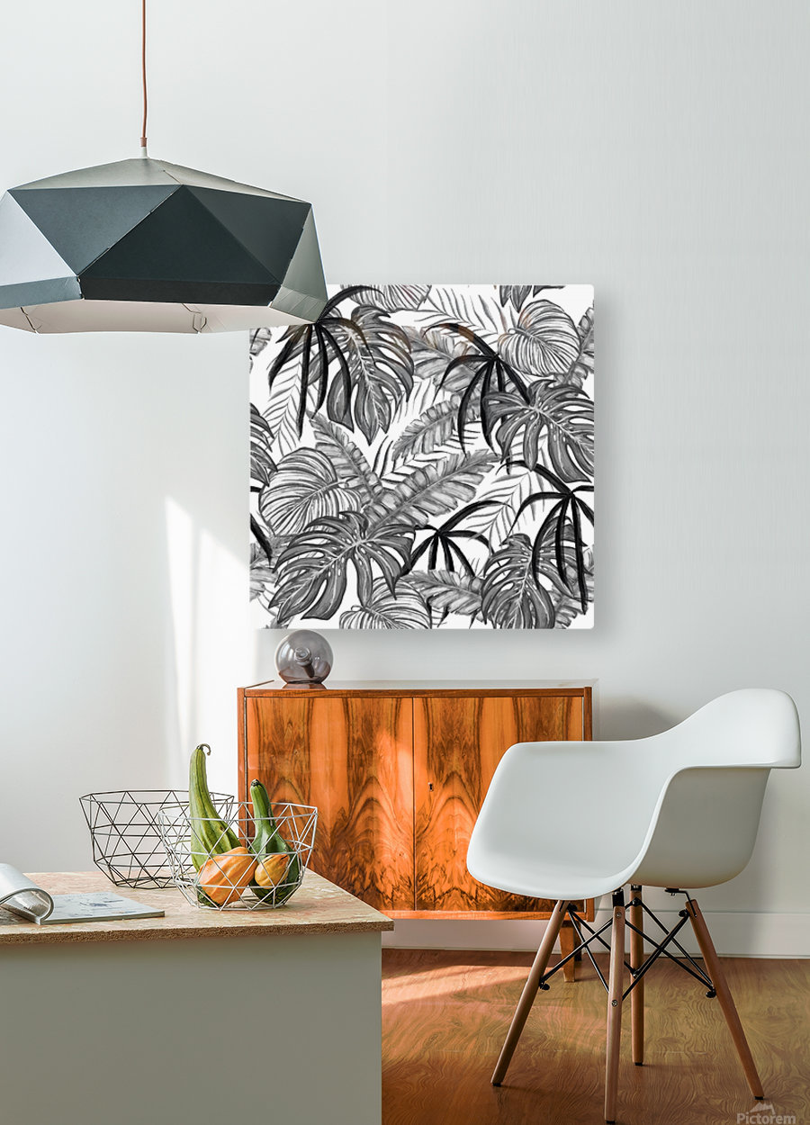 drawing leaves nature picture  HD Metal print with Floating Frame on Back