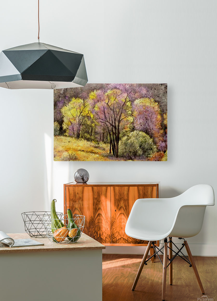 outdoor nature natural woods  HD Metal print with Floating Frame on Back