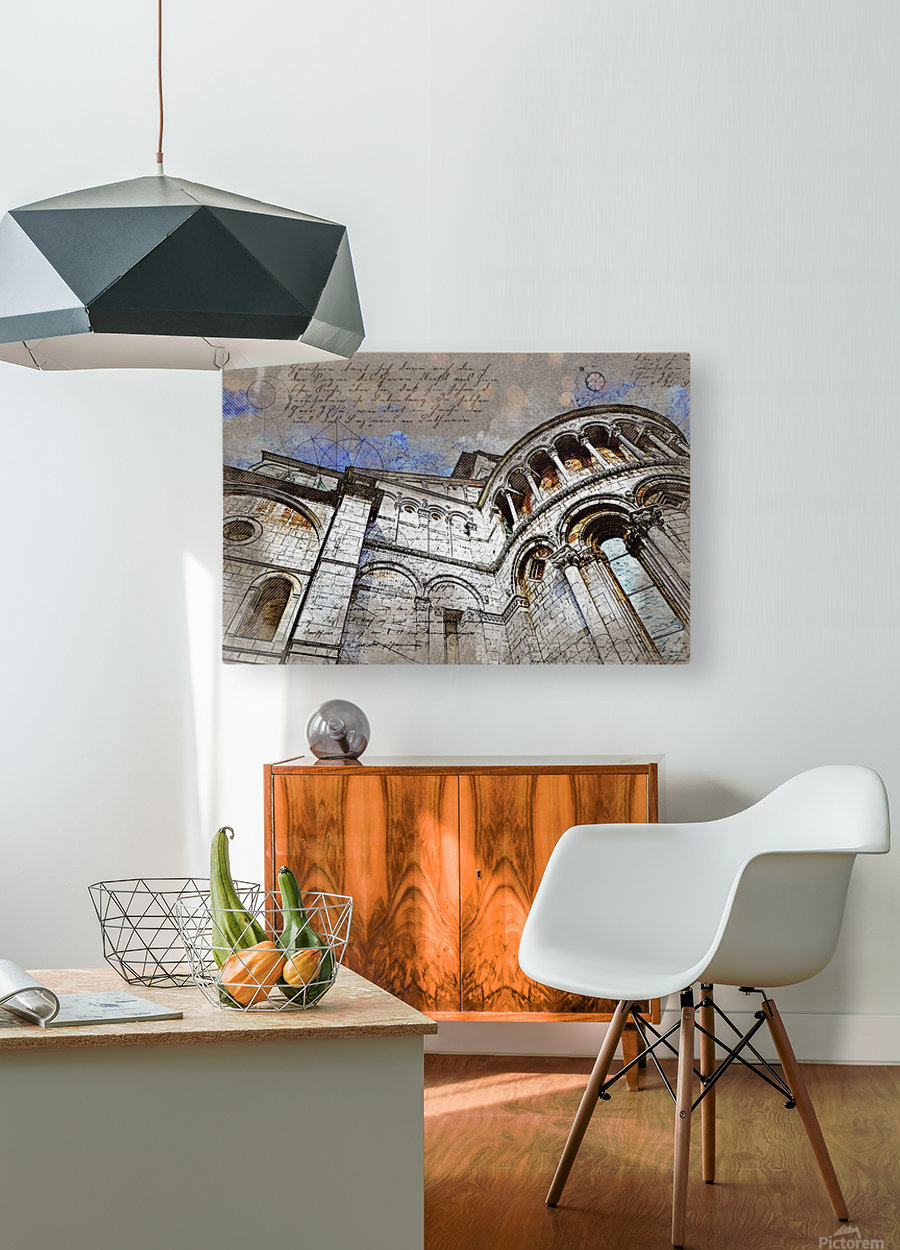 building architecture columns  HD Metal print with Floating Frame on Back