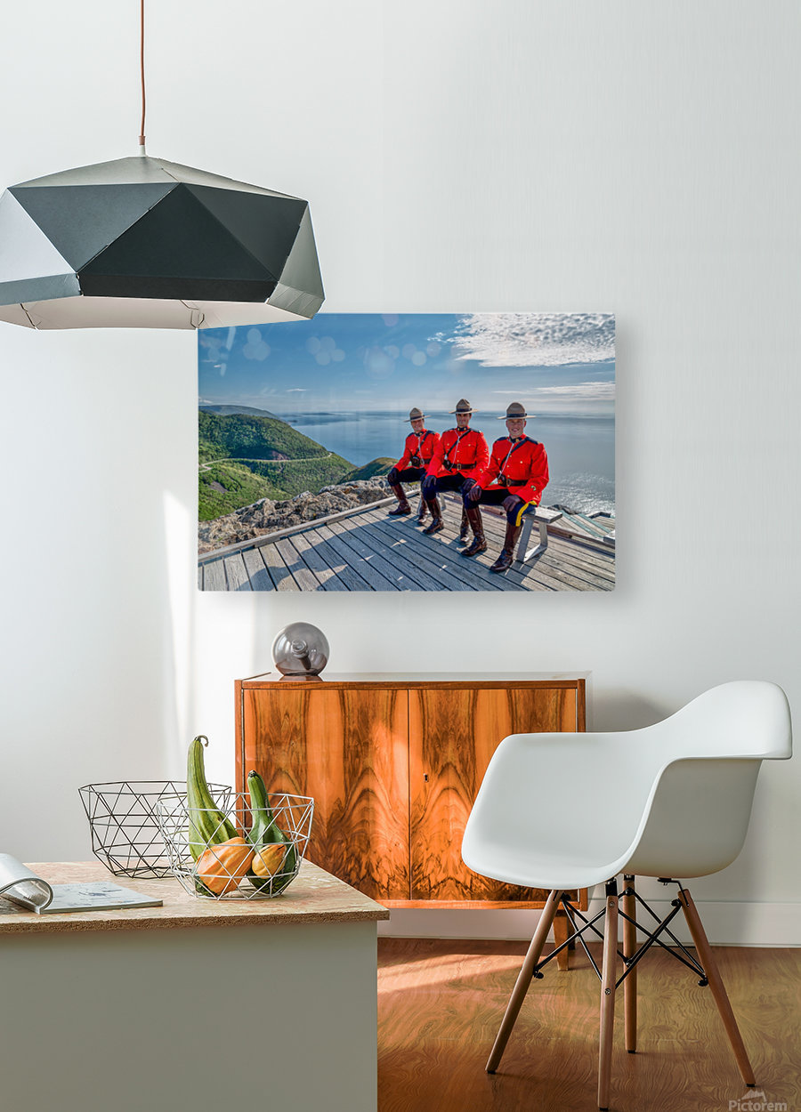 Have a Seat - in Red Serge  HD Metal print with Floating Frame on Back