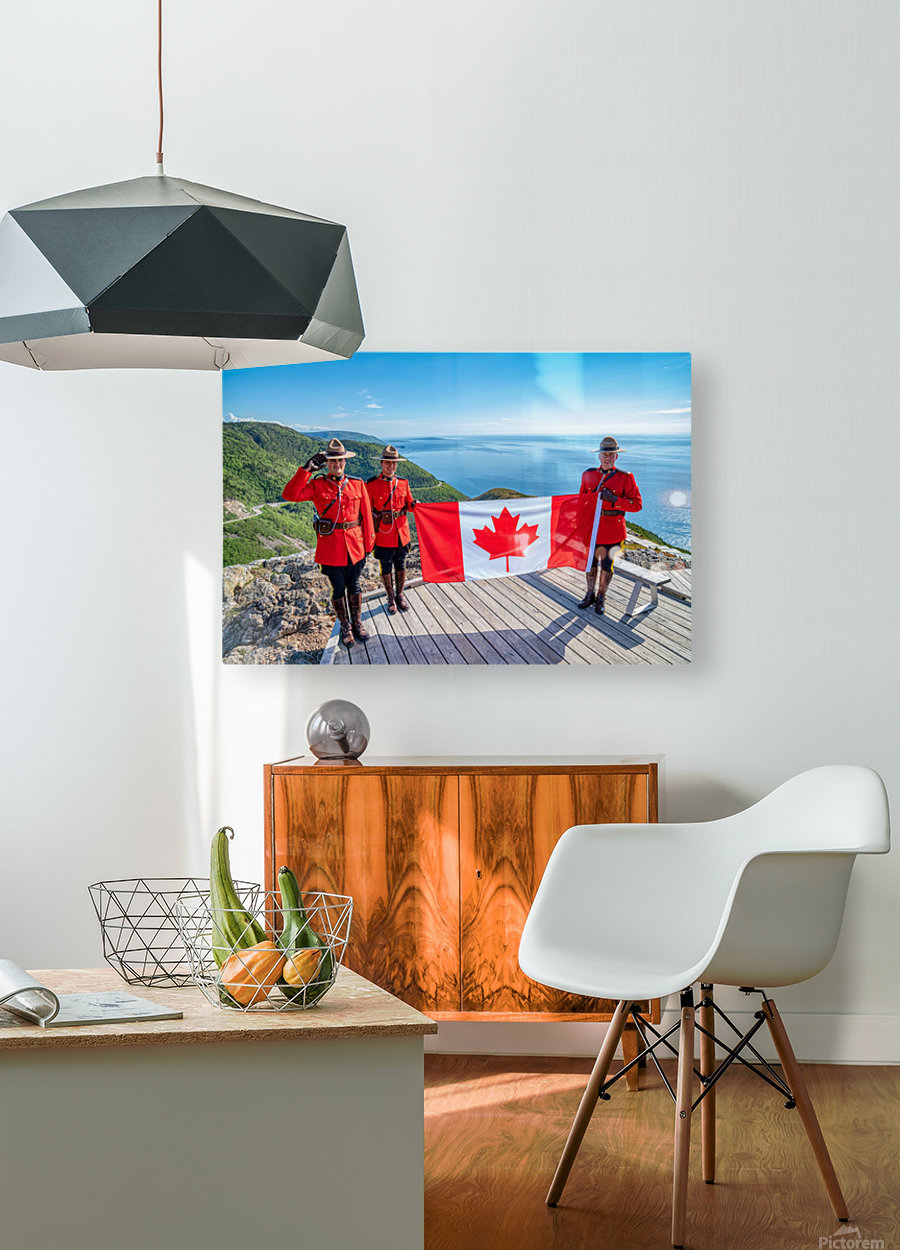 We Stand on Guard for Thee  HD Metal print with Floating Frame on Back