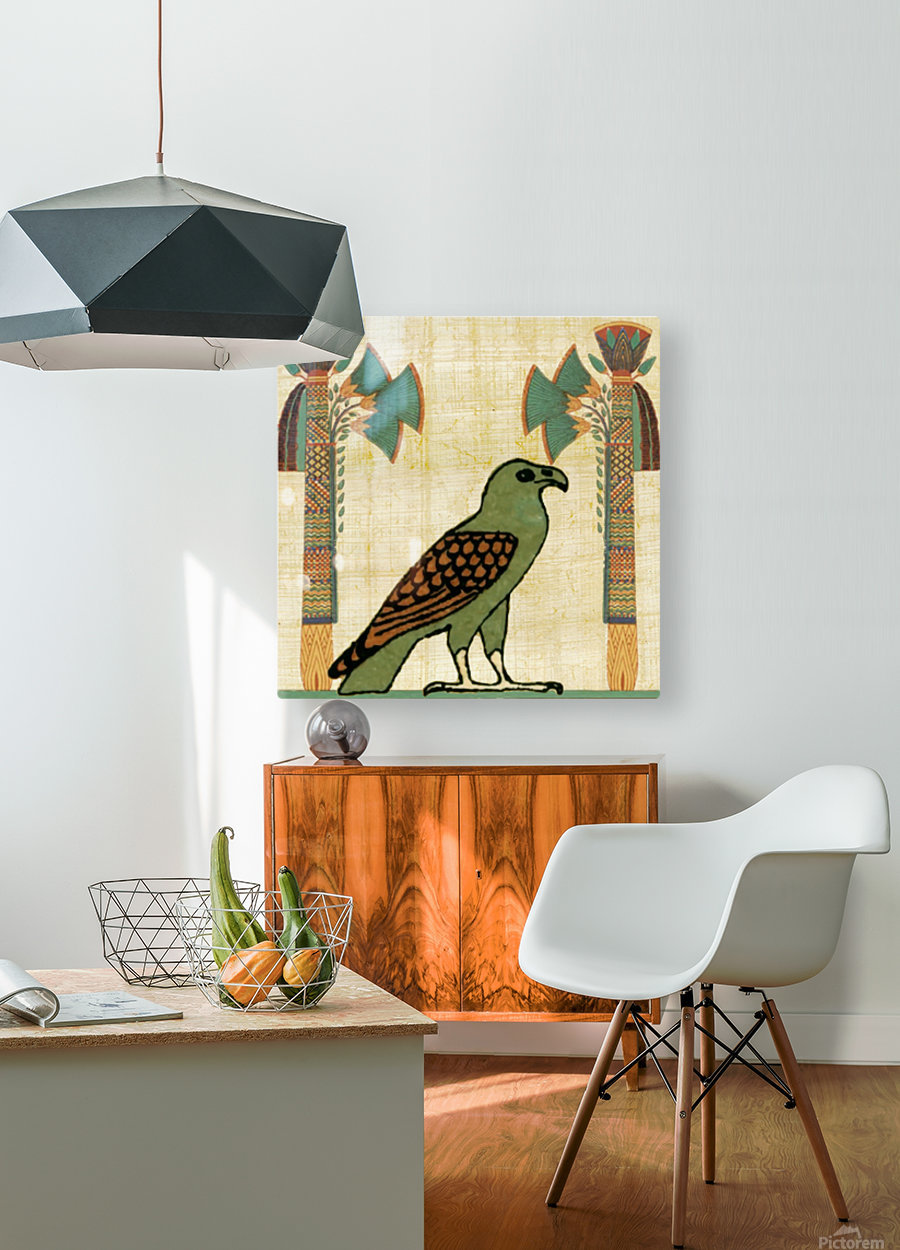 egyptian paper papyrus bird  HD Metal print with Floating Frame on Back