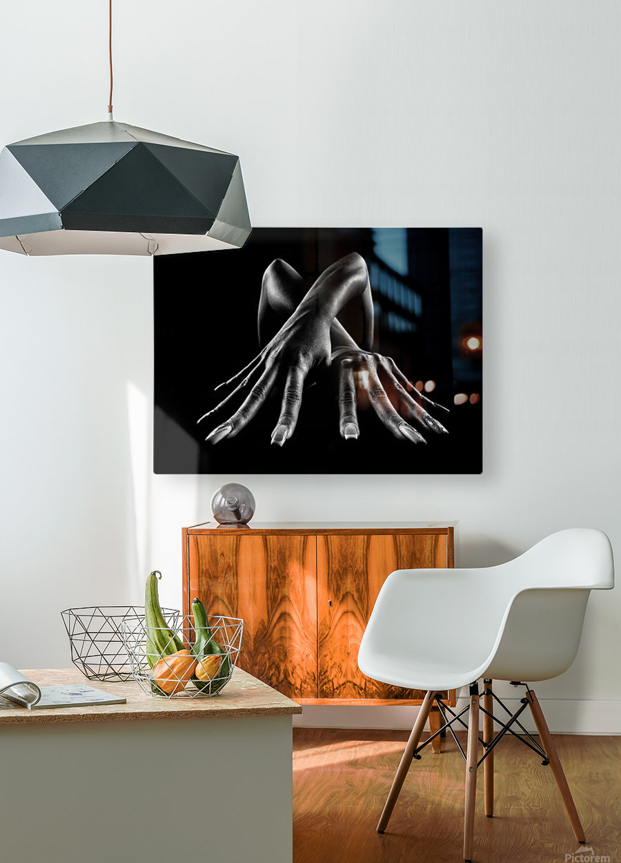 Figurative Body Parts  HD Metal print with Floating Frame on Back