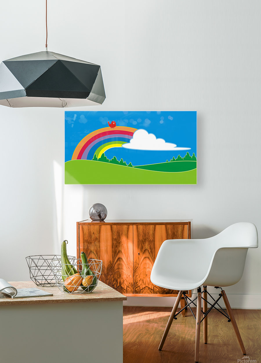 natural cloud field grass  HD Metal print with Floating Frame on Back