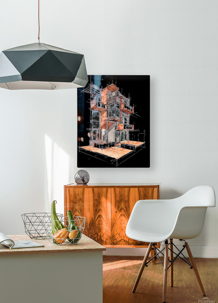 rag flats onion flats llc architecture drawing graffiti architecture  HD Metal print with Floating Frame on Back