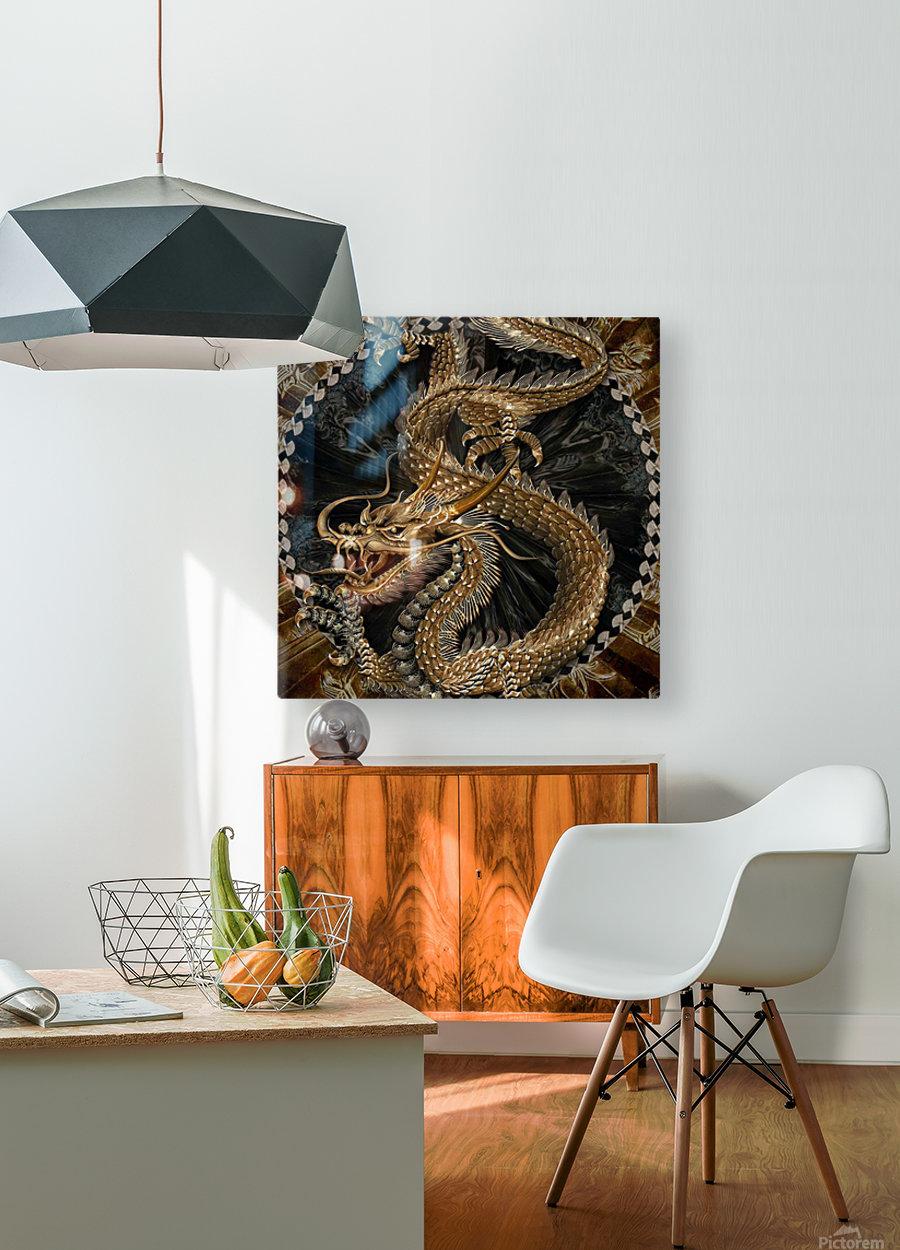 fantasy Dragon Pentagram  HD Metal print with Floating Frame on Back