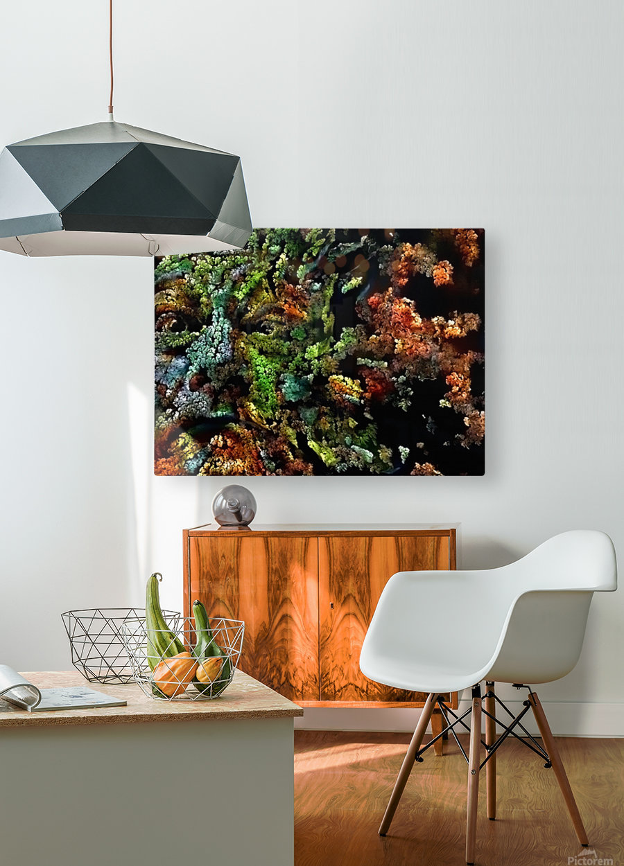 The Face of Nature  HD Metal print with Floating Frame on Back