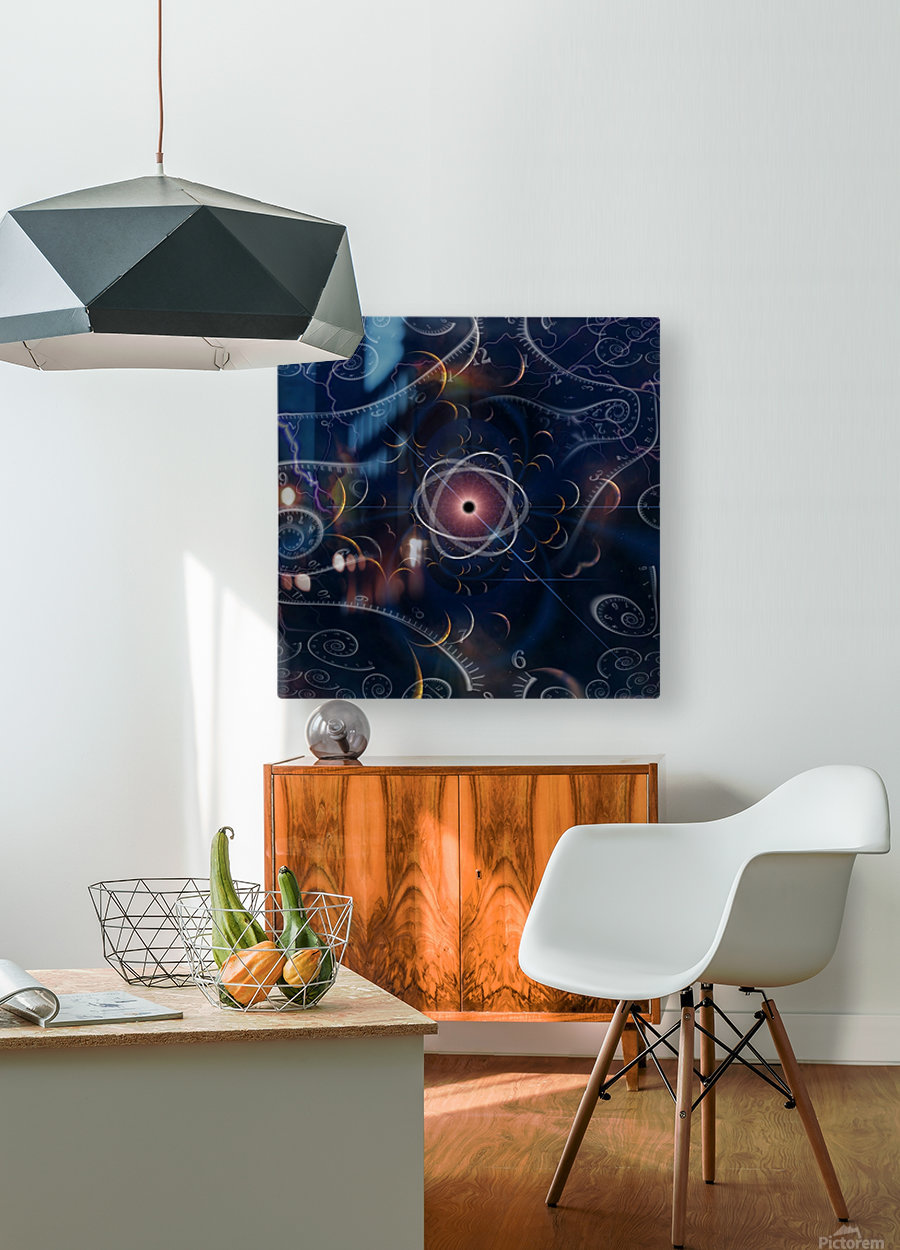 Time and Matter  HD Metal print with Floating Frame on Back