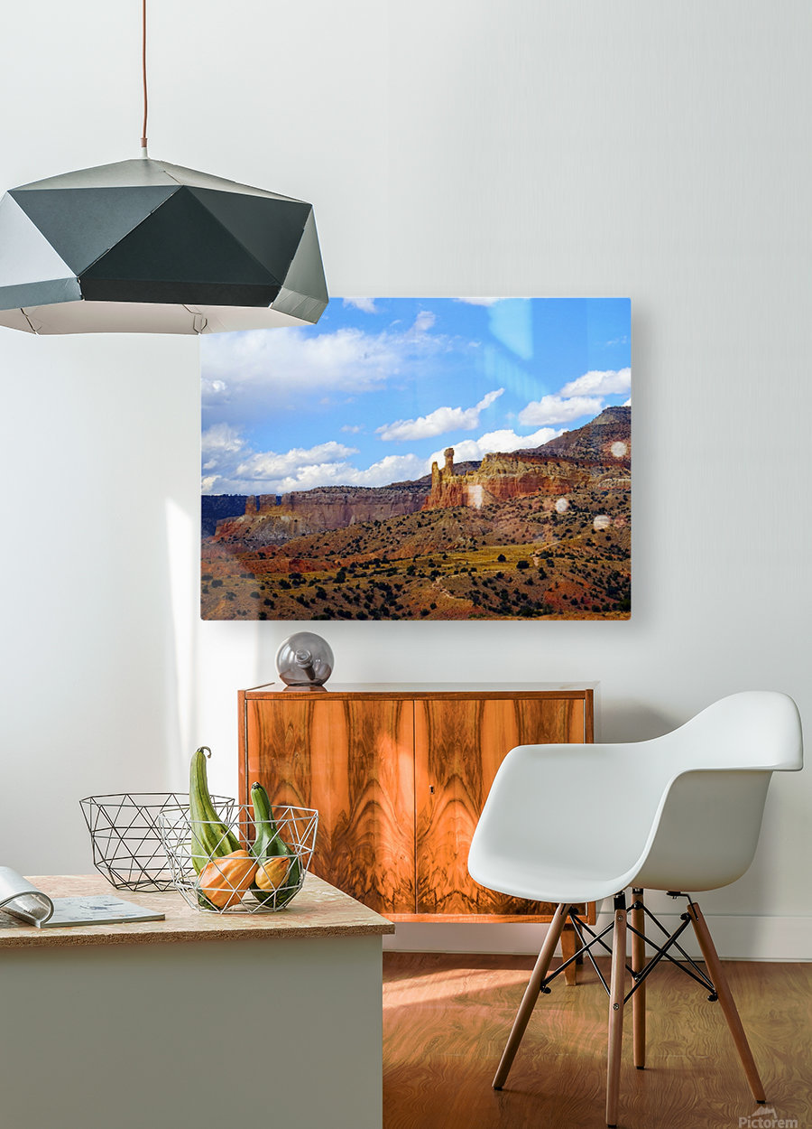 Chimney Rock Ghost Ranch NM   HD Metal print with Floating Frame on Back