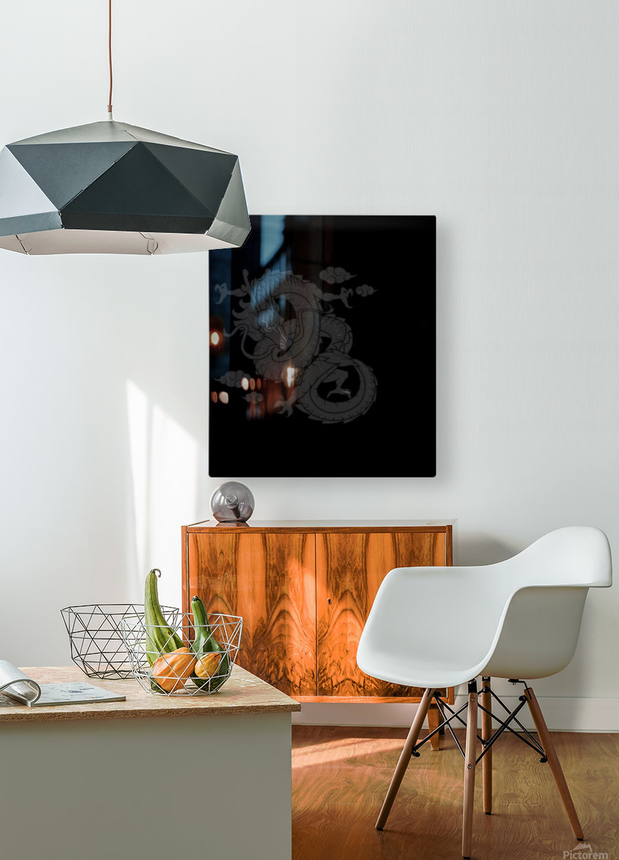 Chinese Concept 01A  HD Metal print with Floating Frame on Back