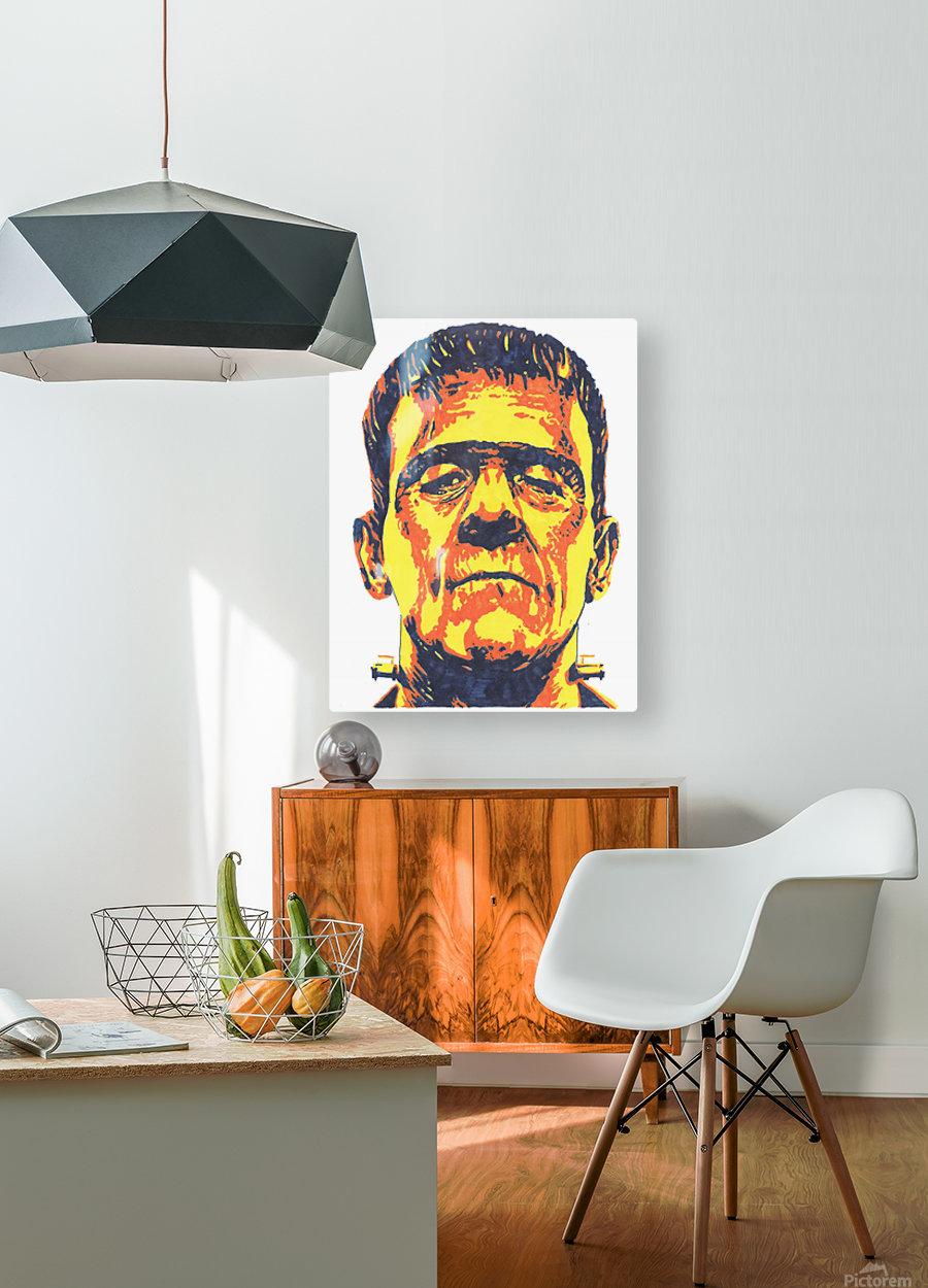 Frankenstein   HD Metal print with Floating Frame on Back