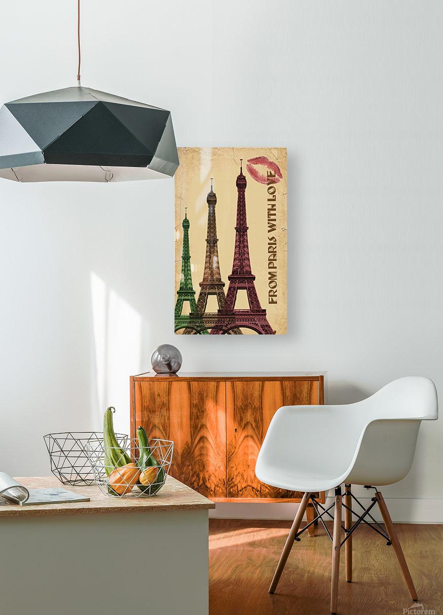 france paris paris france city  HD Metal print with Floating Frame on Back