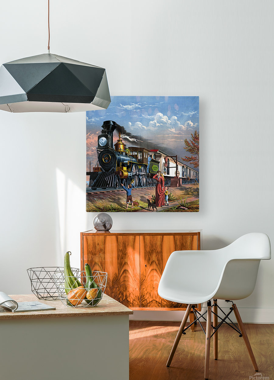 train mail train steam train people  HD Metal print with Floating Frame on Back