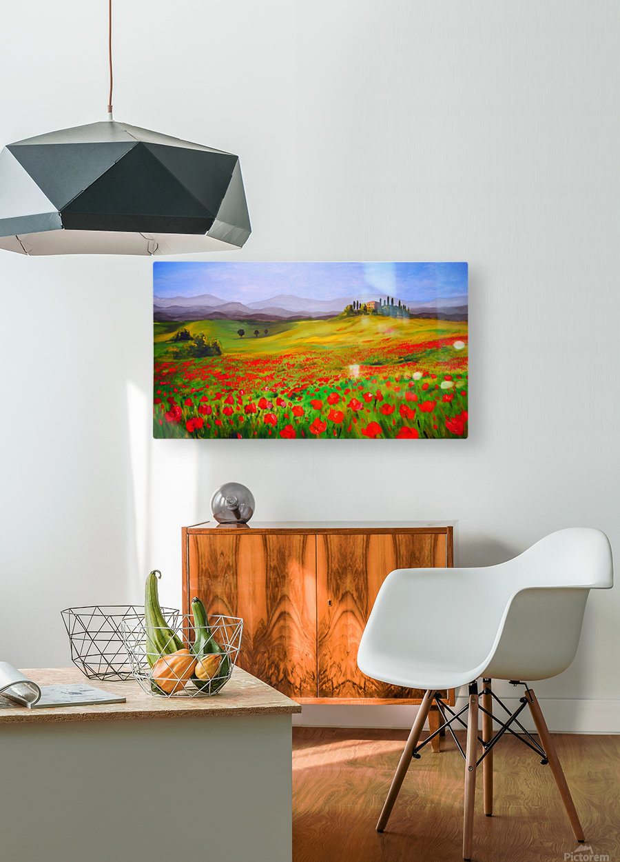 painting art landscape acrylic  HD Metal print with Floating Frame on Back