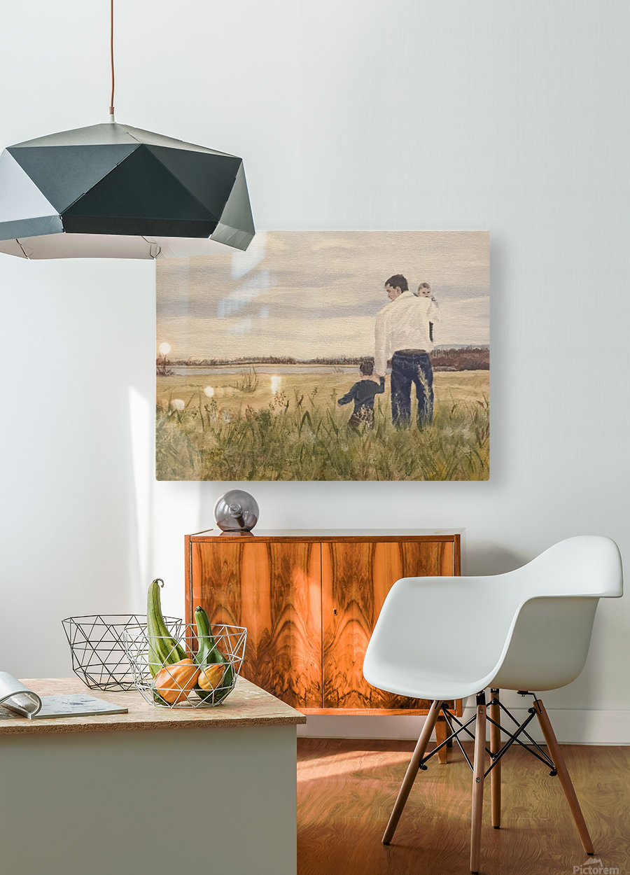 Dads day  HD Metal print with Floating Frame on Back