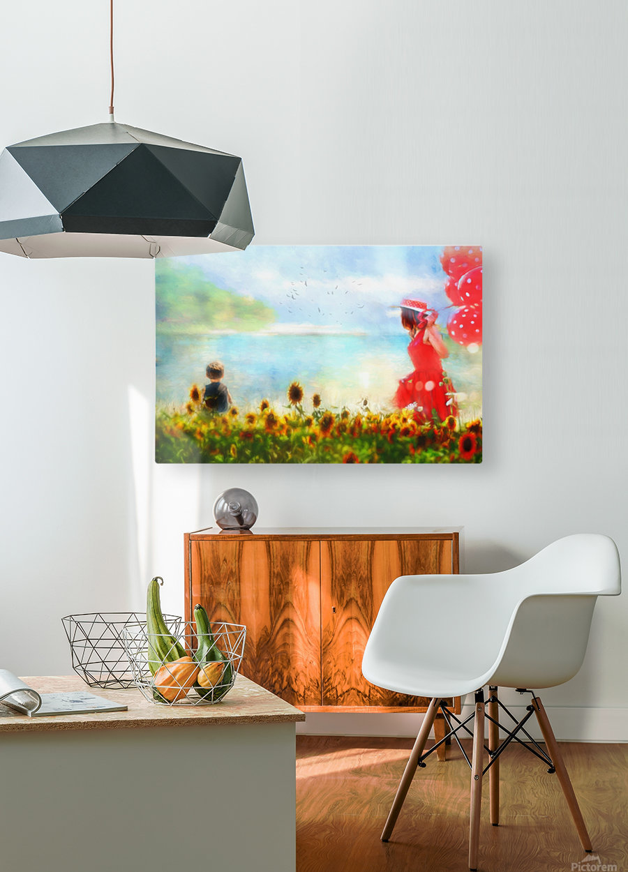 The lake  HD Metal print with Floating Frame on Back