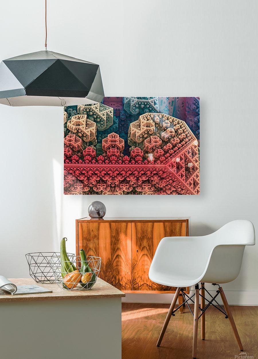 fractals 3d graphics designs    HD Metal print with Floating Frame on Back