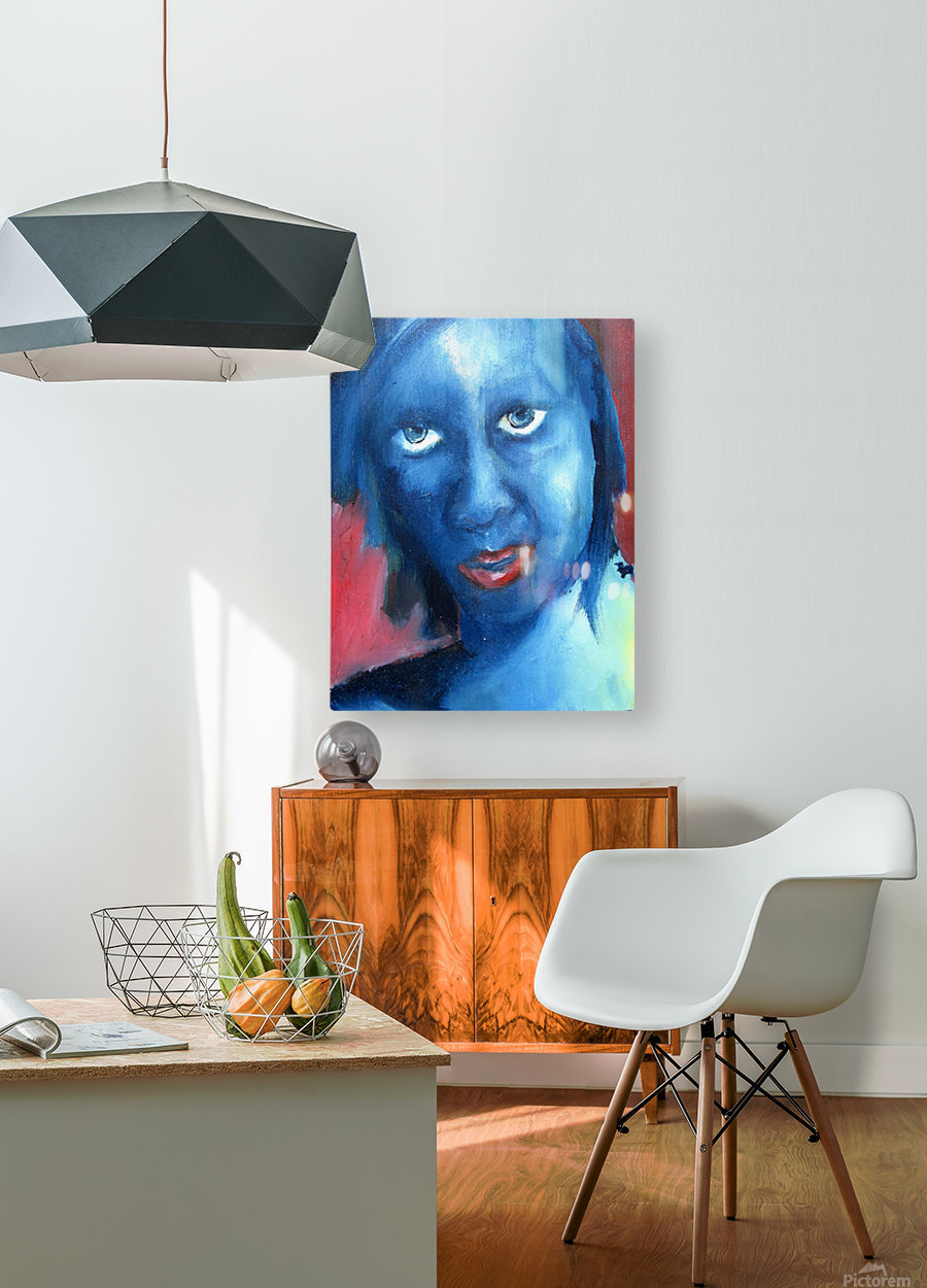 Feeling Blue  HD Metal print with Floating Frame on Back
