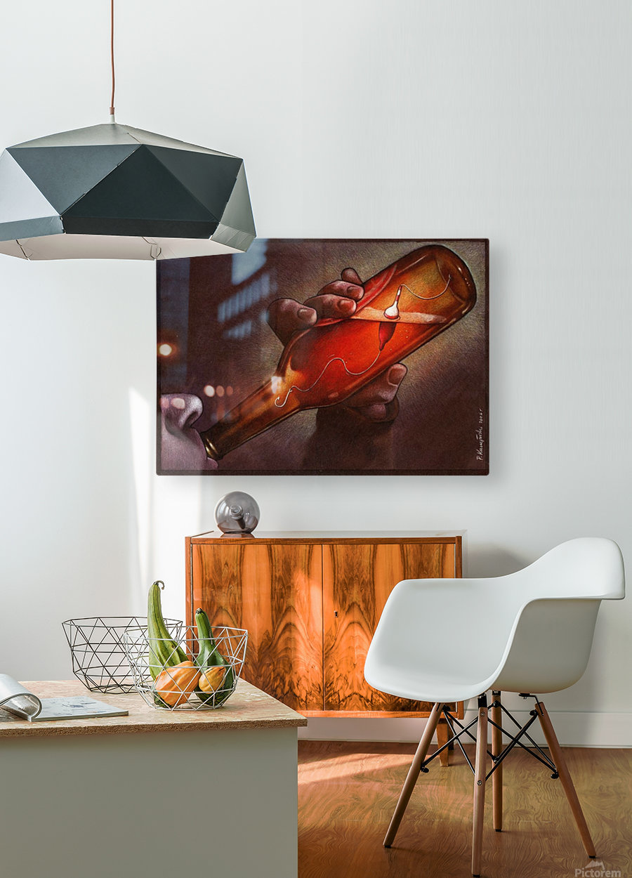 Drink  HD Metal print with Floating Frame on Back