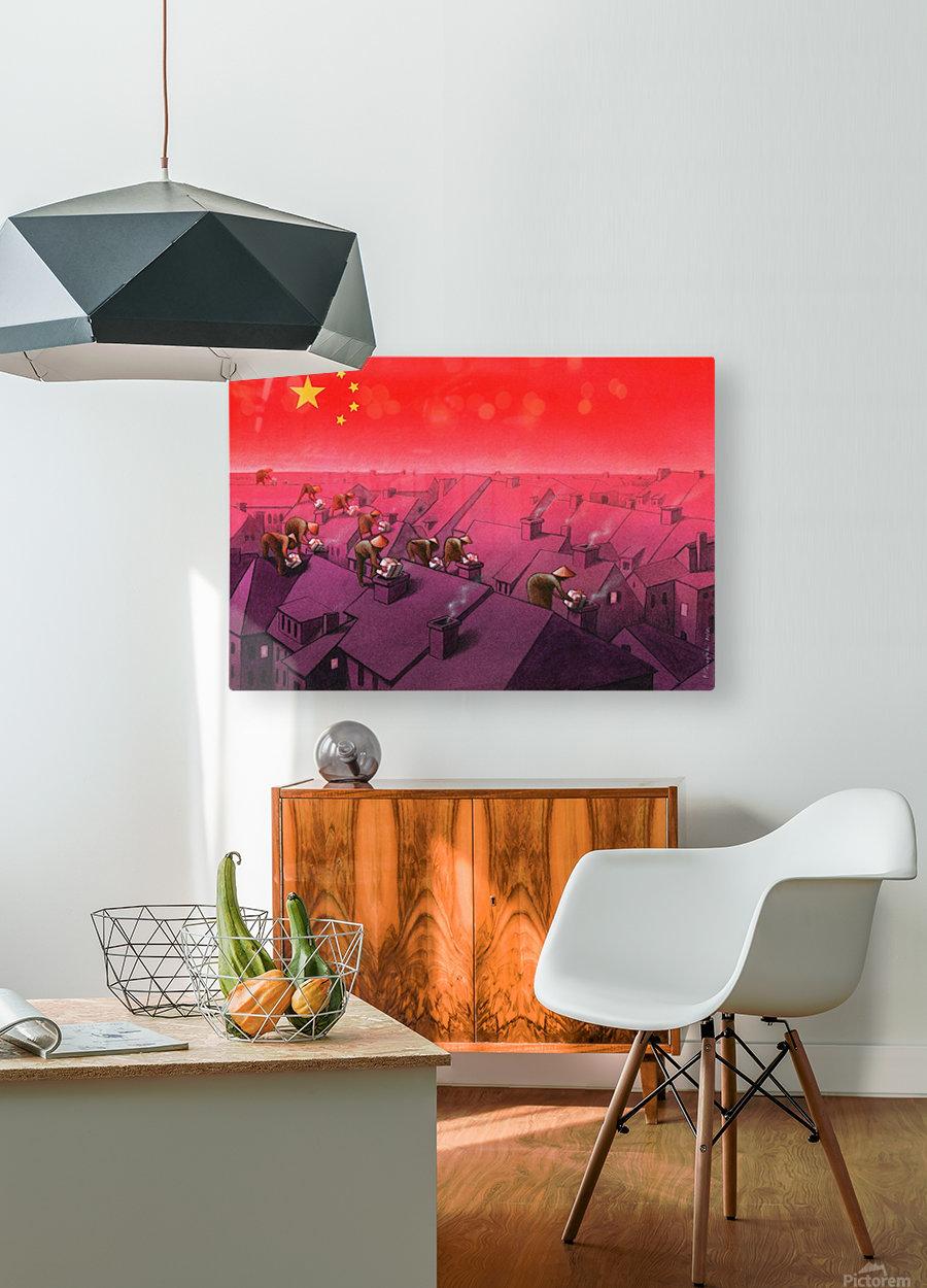 Christmas  HD Metal print with Floating Frame on Back